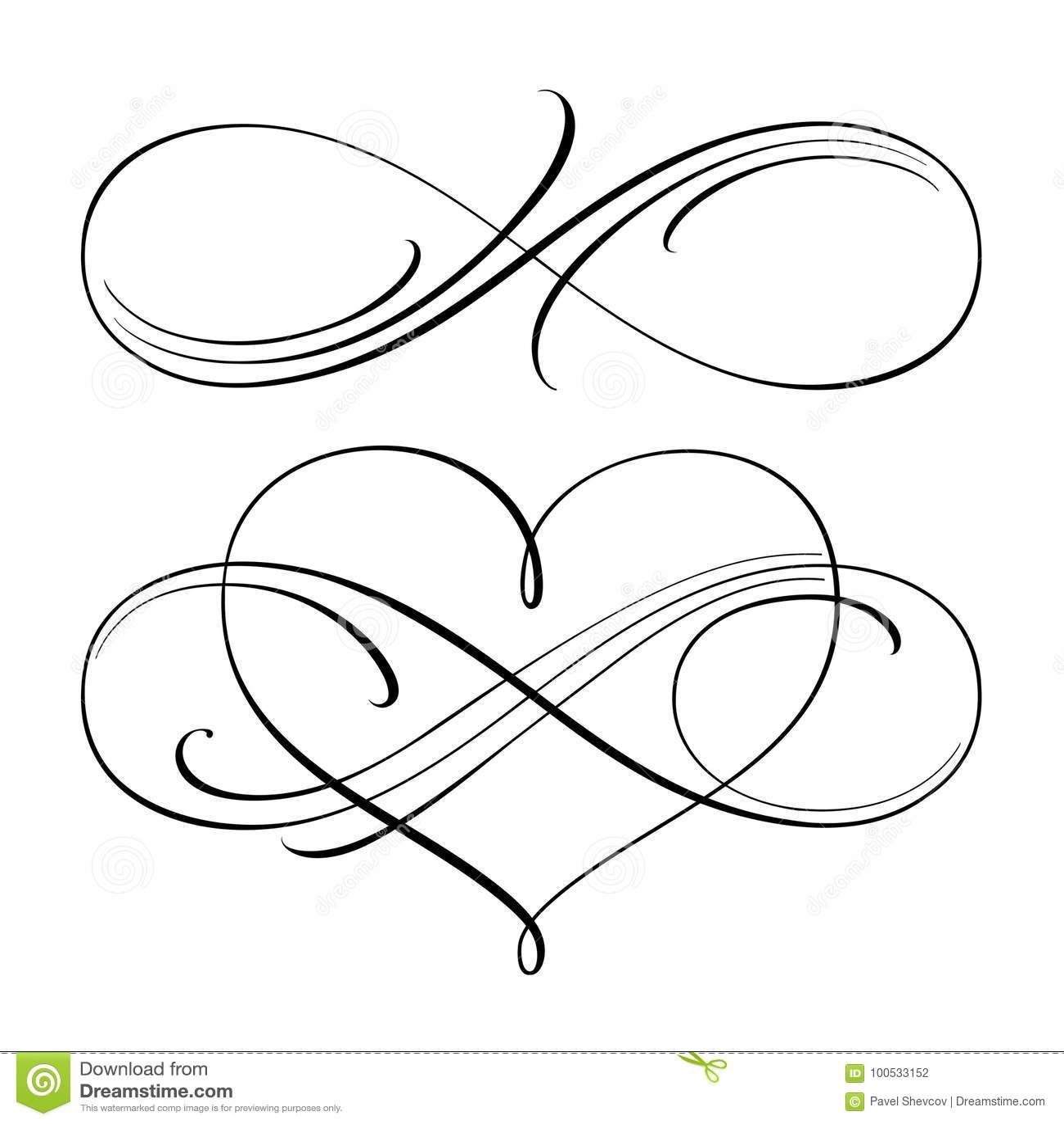 Símbolos Infinitos Del Amor Ilustración Del Vector Ilustración De