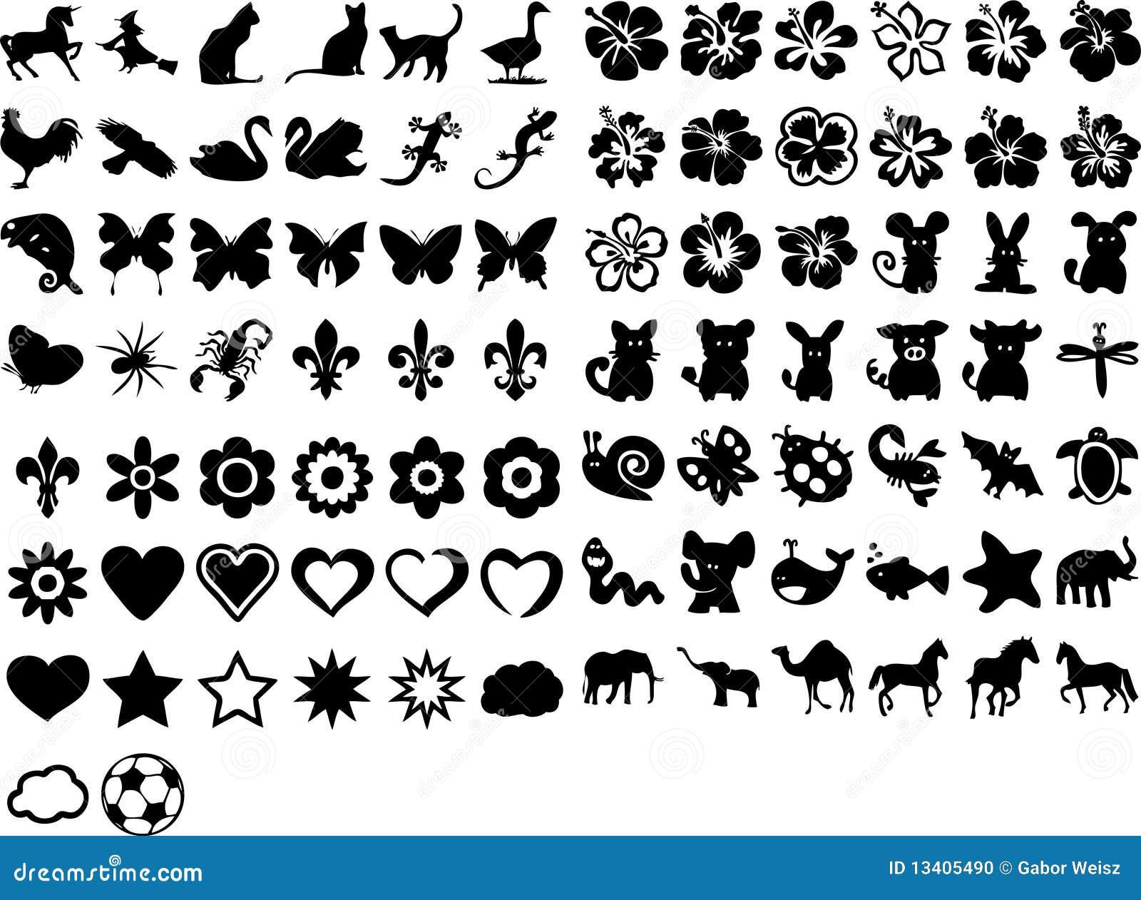 Símbolos Lindos Ilustración Del Vector Ilustración De Bosque 13405490