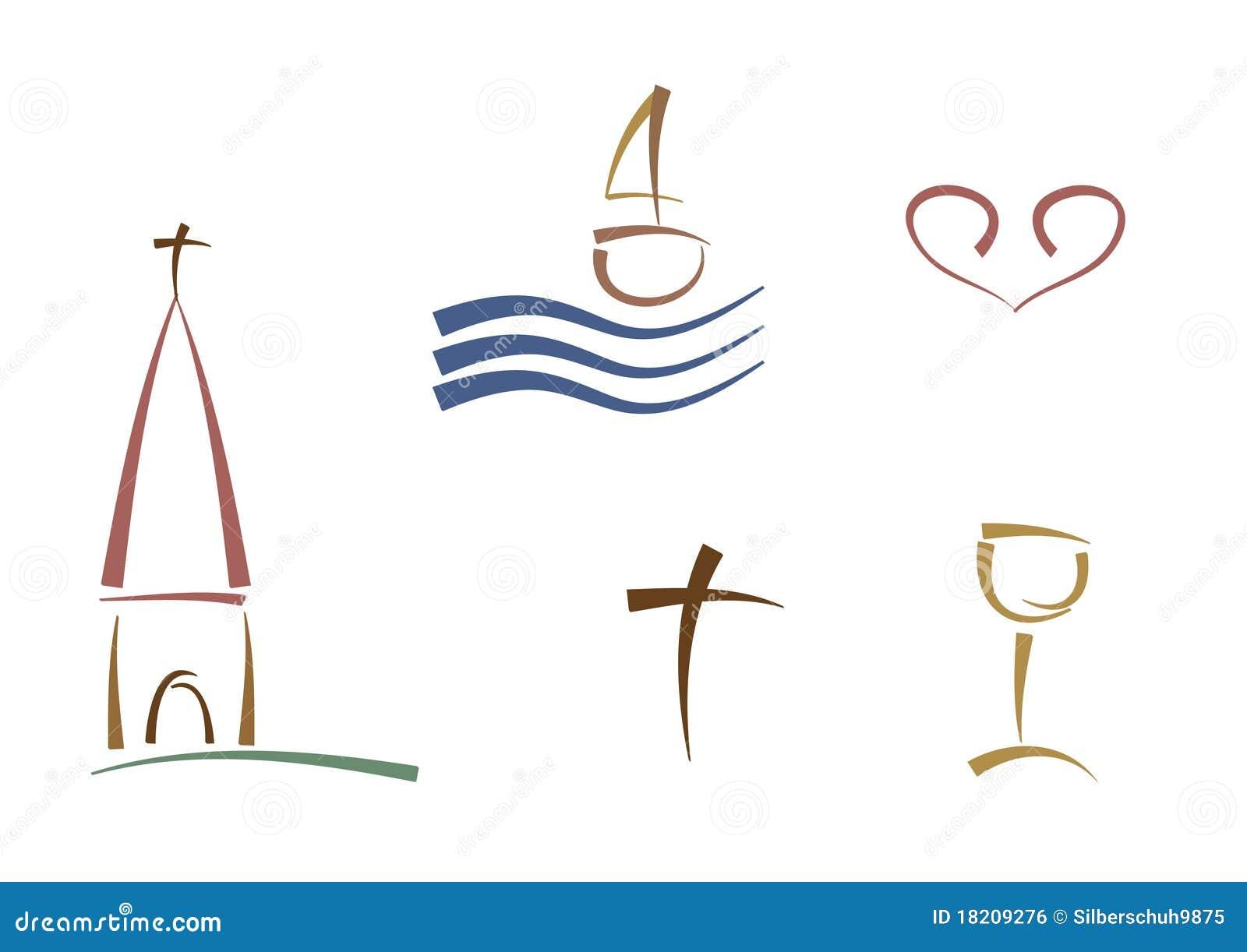 Símbolos religiosos abstractos
