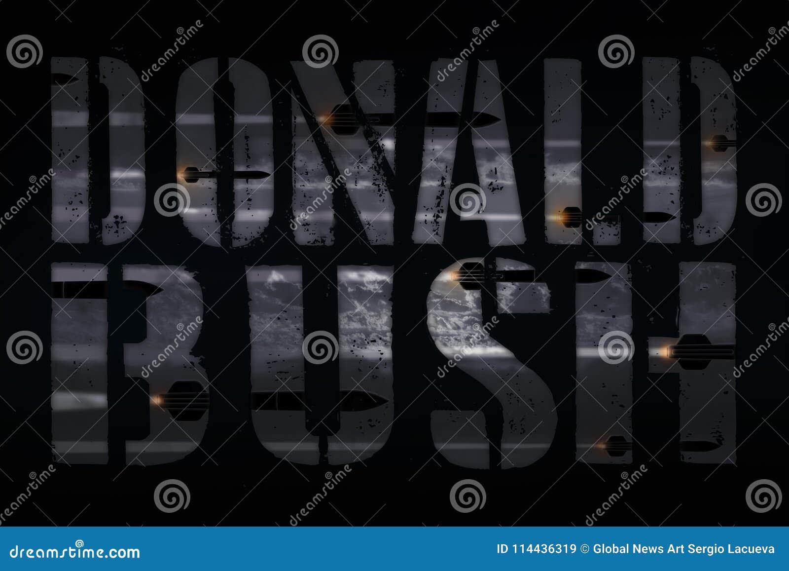 SÍRIA, o 14 de abril de 2018 - ataque de George W Bush das repetições do presidente Trunfo em choque e no incrédulo de Médio Orie