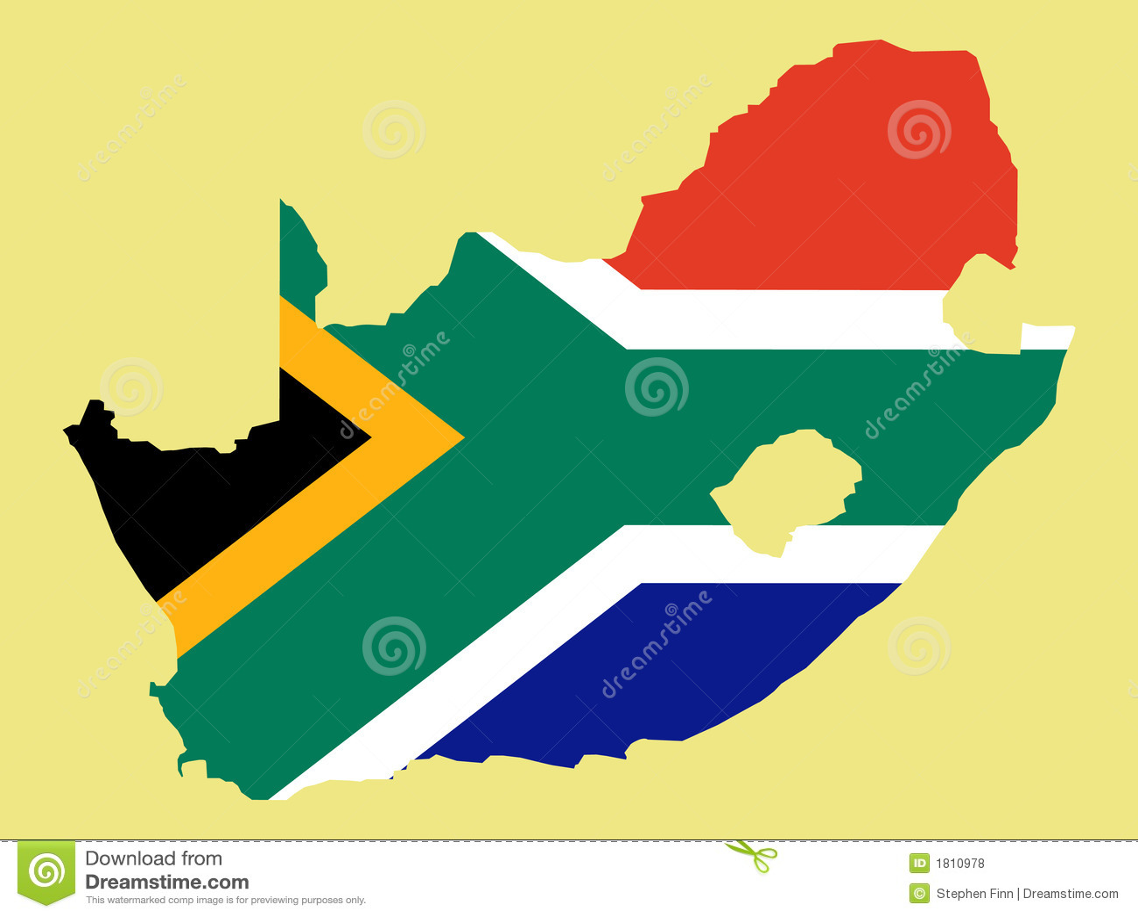 Södra africa afrikansk flaggaöversikt