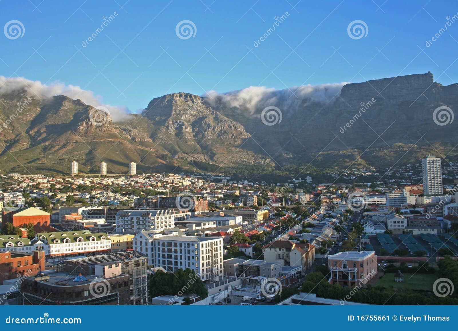 Södra town för africa uddstad