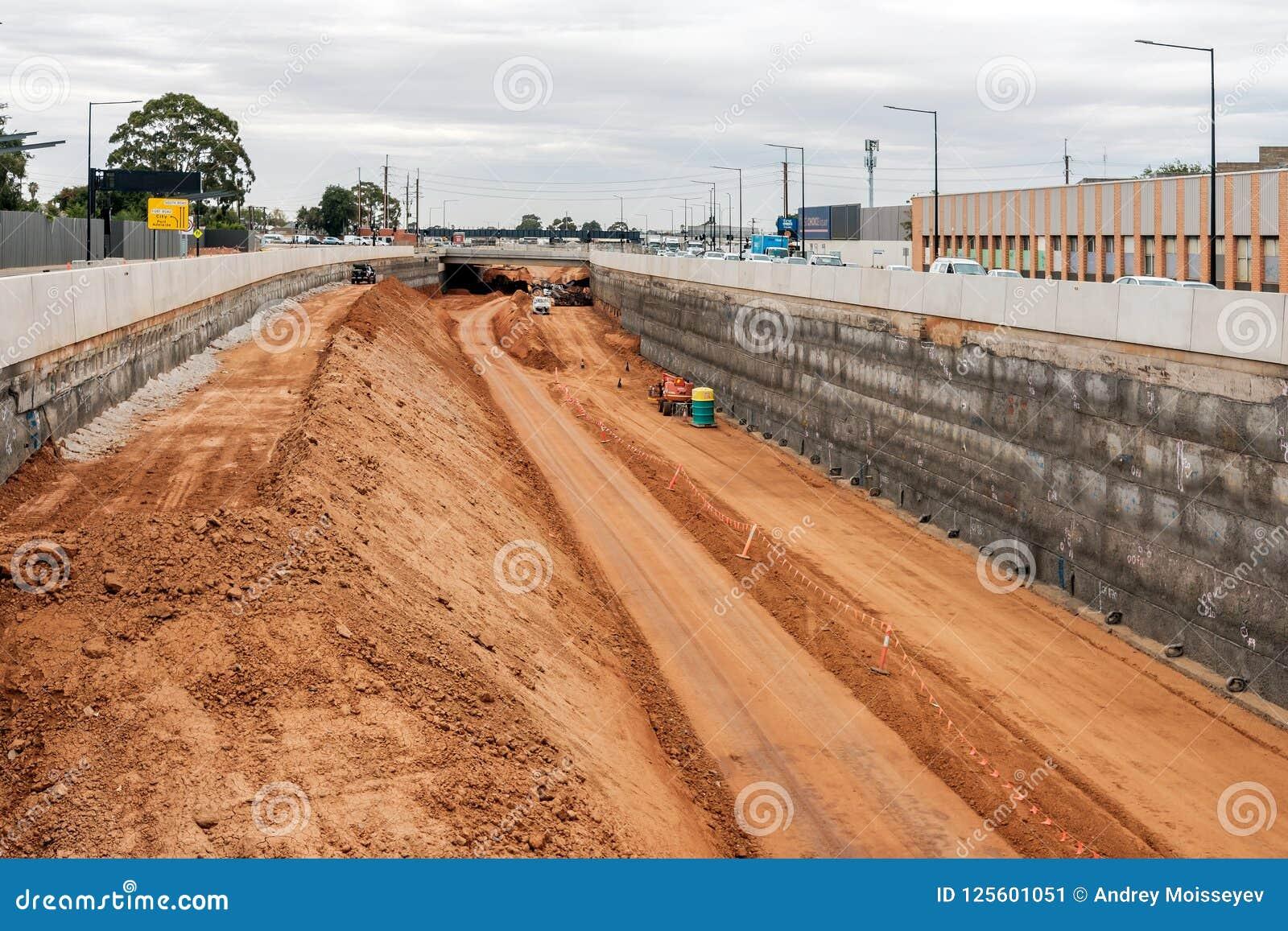 Södra vägmotorwayförbättring i Adelaide, södra Australien