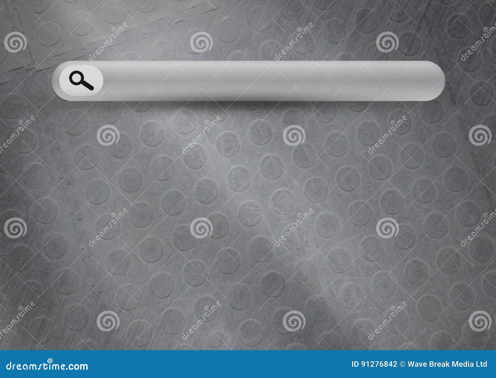 Sökandestång med grå bakgrund