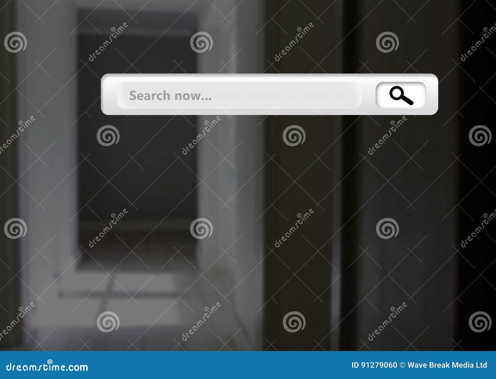Sökandestång med korridorbakgrund