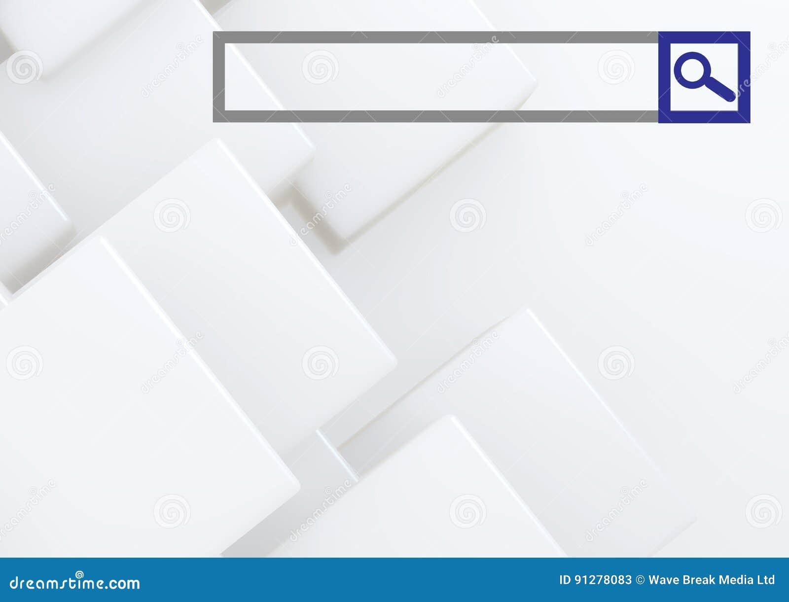 Sökandestång med ljus geometrisk formbakgrund