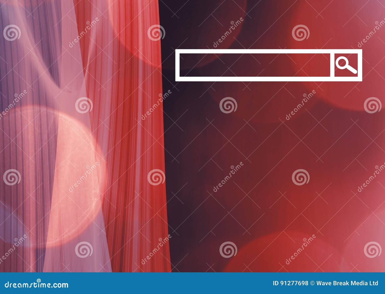 Sökandestång med röd bakgrund