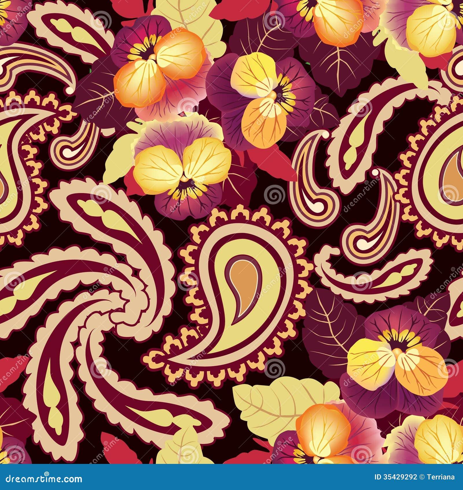 Sömlös bakgrund för blomma. Abstrakt textur för prydnadblommalilja.