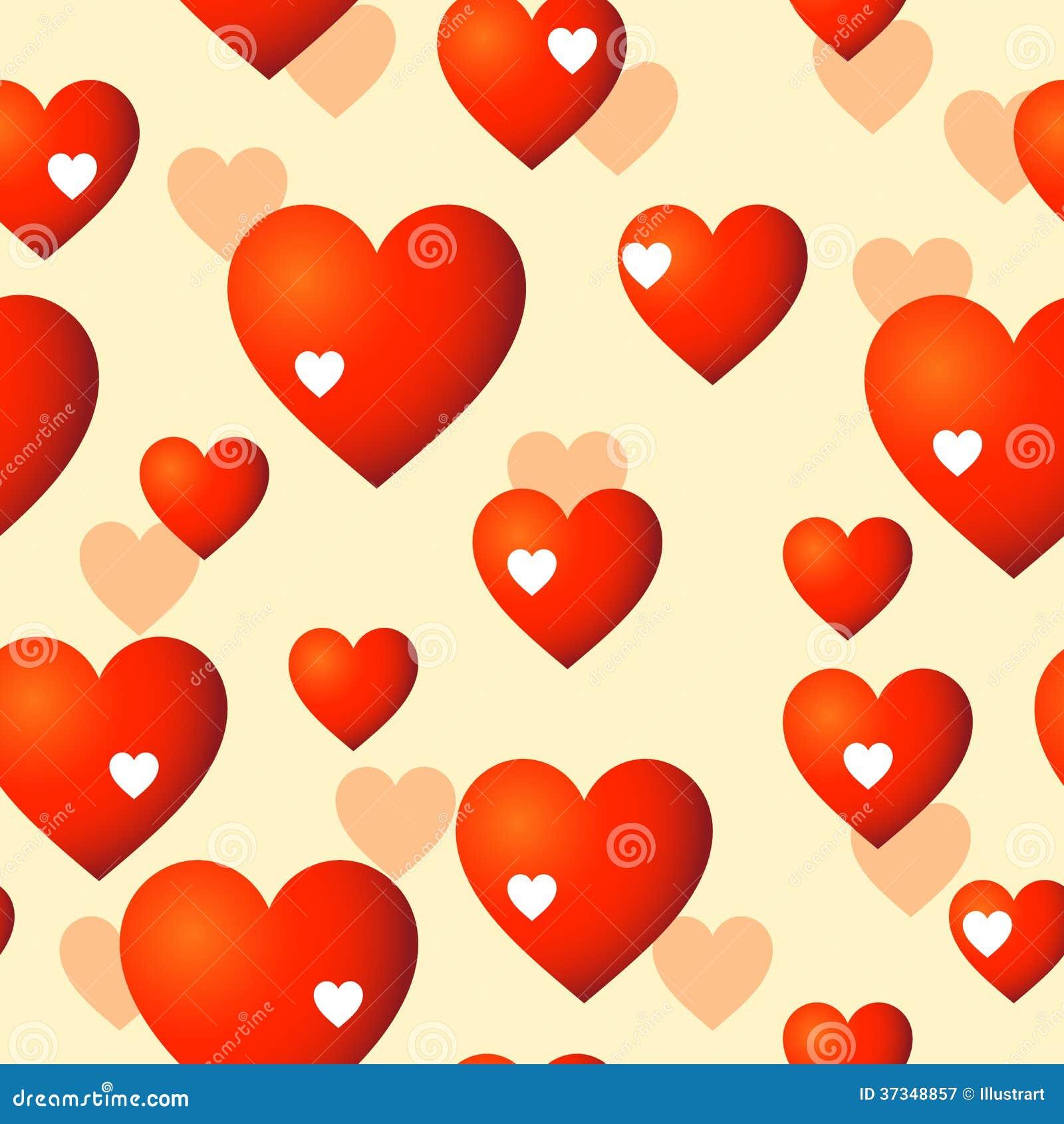 Sömlös bakgrund för hjärtor