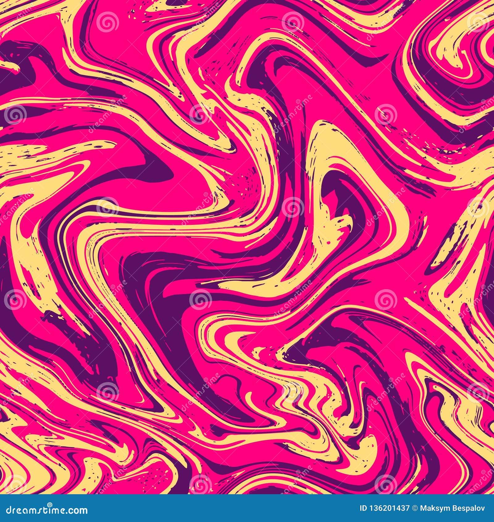 Sömlös bakgrund för marmortextur Rosa, violett purpurfärgad abstrakt modell Sömlös vätskevätska som marmorerar flödeseffekt vekto