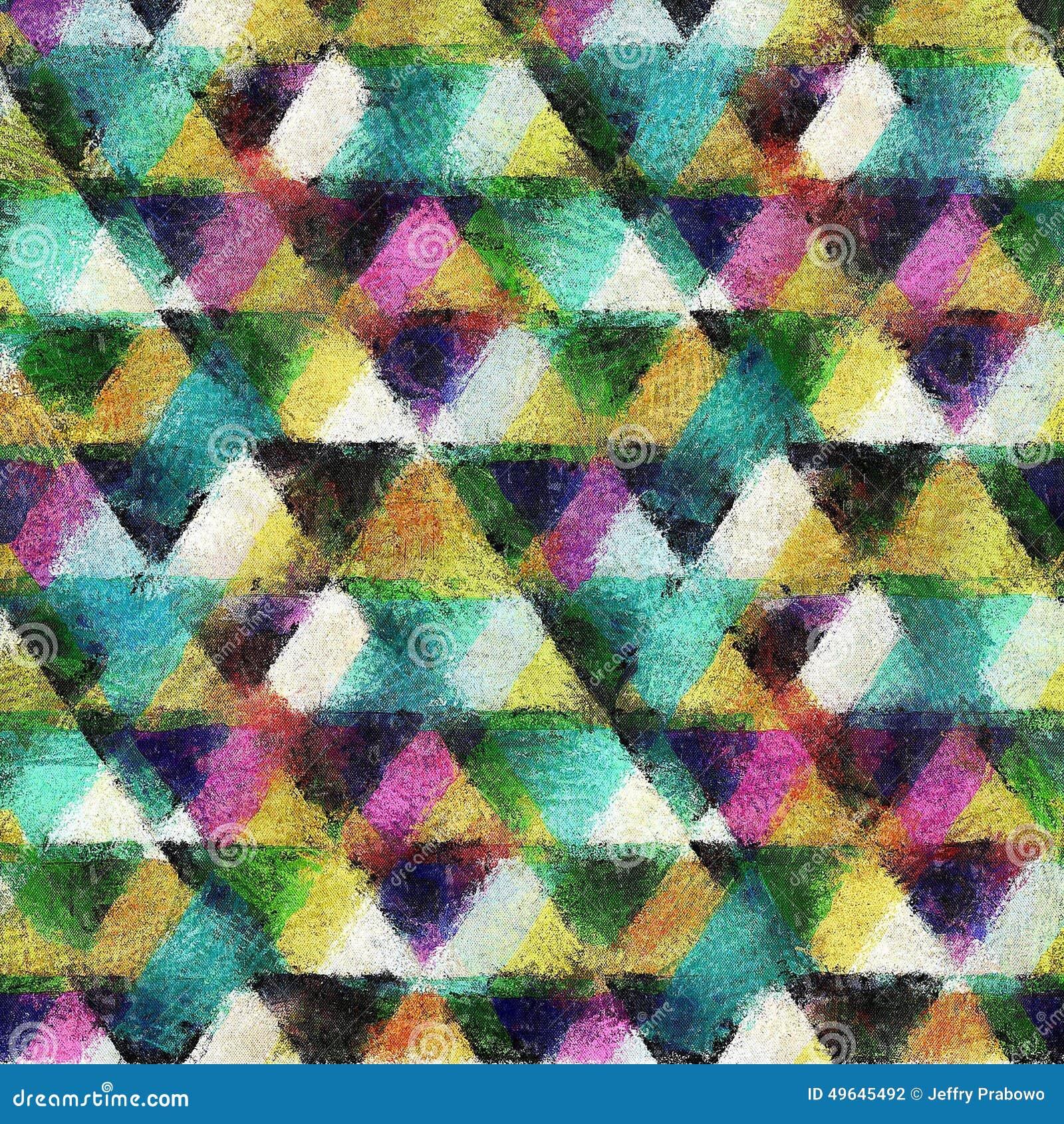 Sömlös bakgrund för stil för triangelvattenfärg
