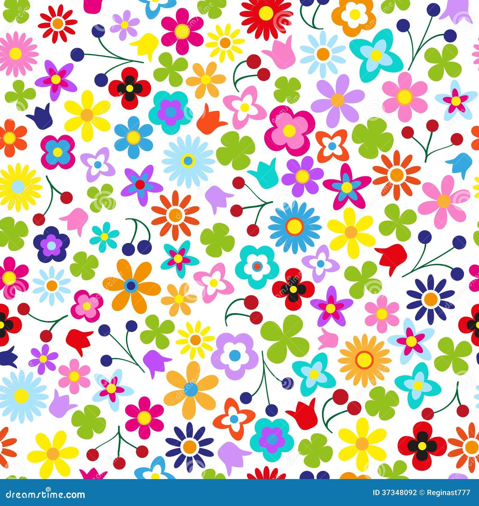Sömlös blomma