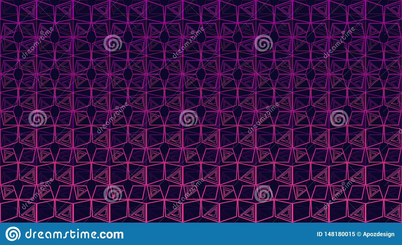 Sömlös flerfärgad geometrisk bakgrund