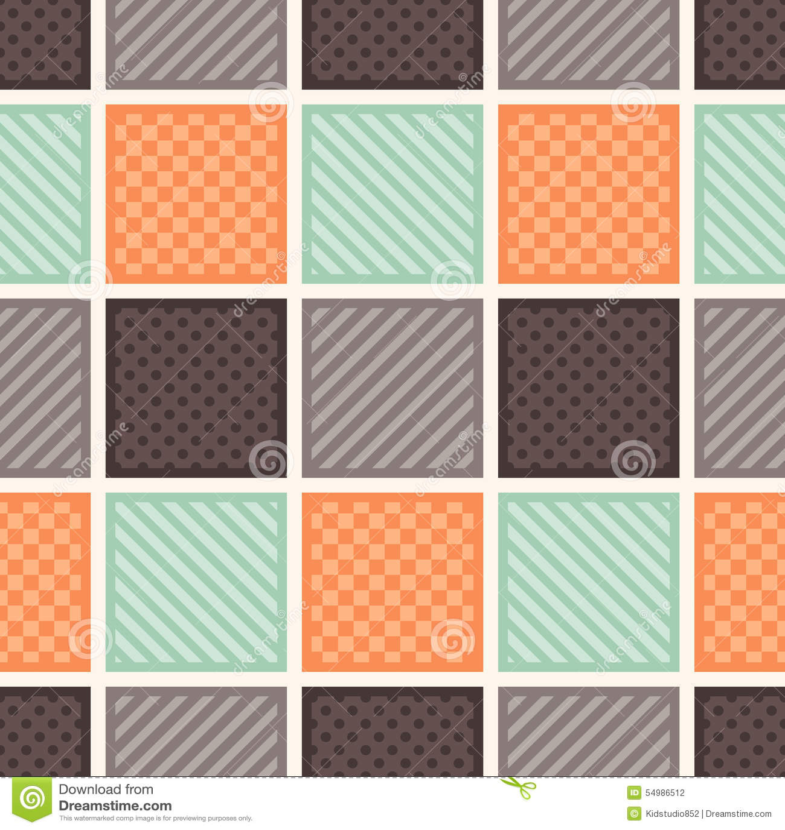 Sömlös fyrkant texturerad bakgrund