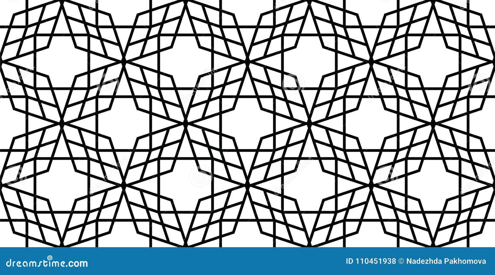 Sömlös geometrisk modell av de raka linjerna