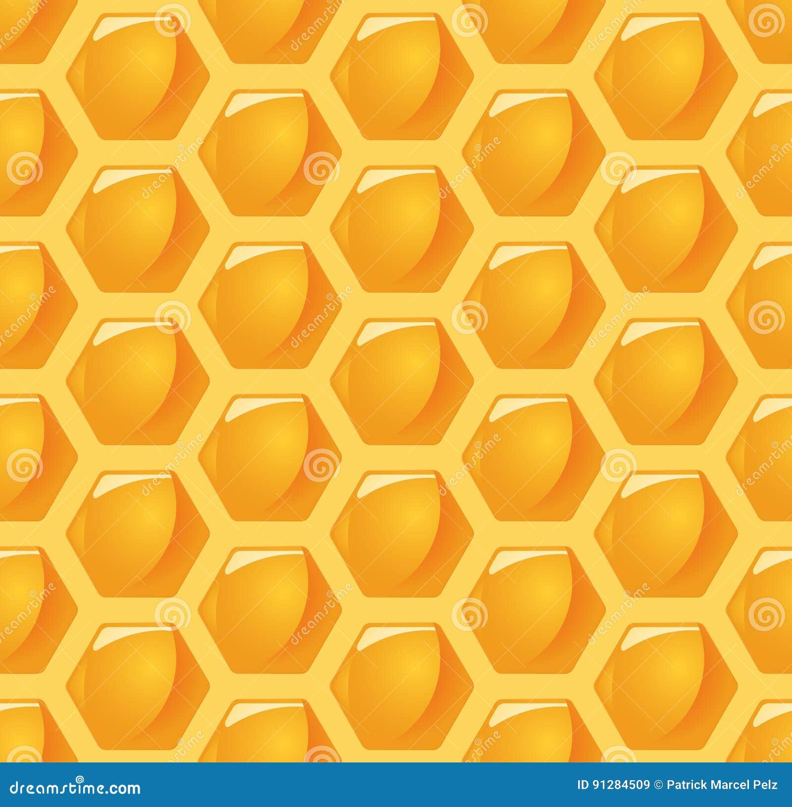 Sömlös honunghårkambakgrund