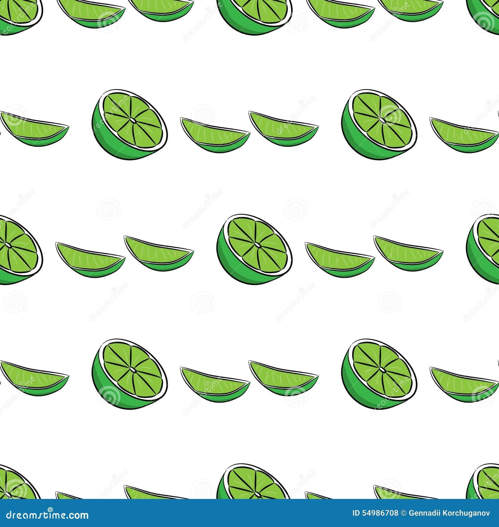 Sömlös limefruktmodell