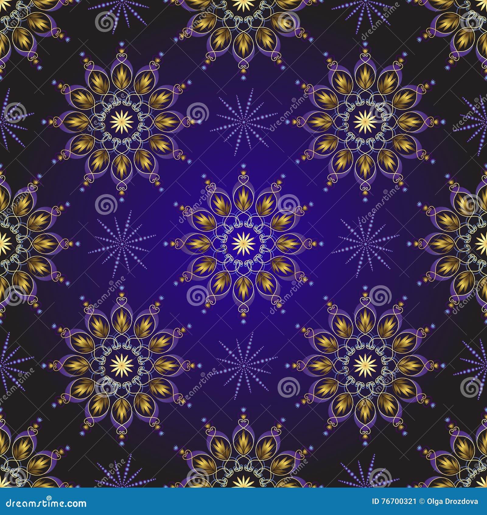 Sömlös mörk violett tappningjulmodell