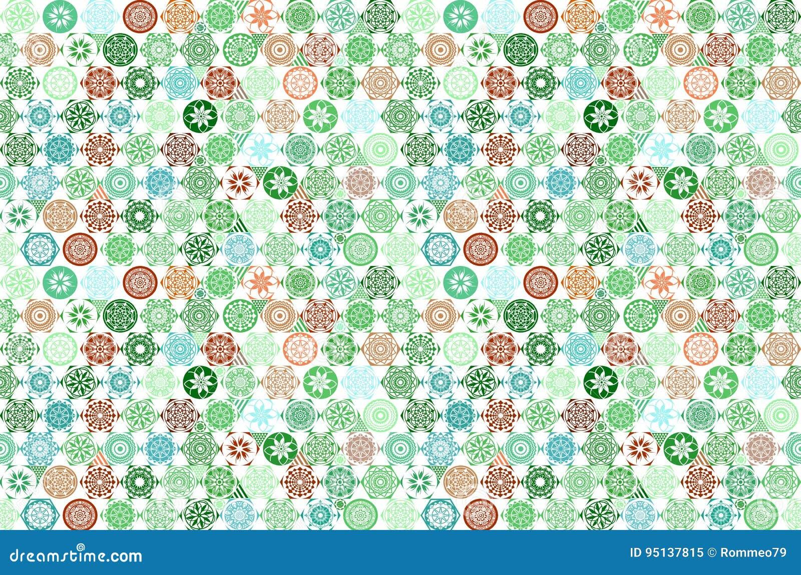 Sömlös mega ursnygg sömlös patchworkmodell för vektor från mörker - vita marockanska portugisiska tegelplattor för gräsplan och,