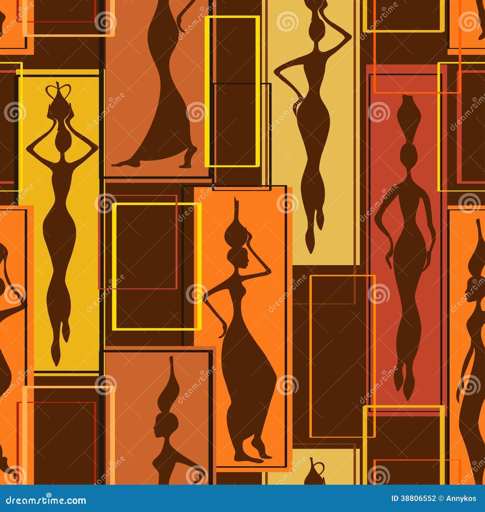 Sömlös modell av afrikanska kvinnor