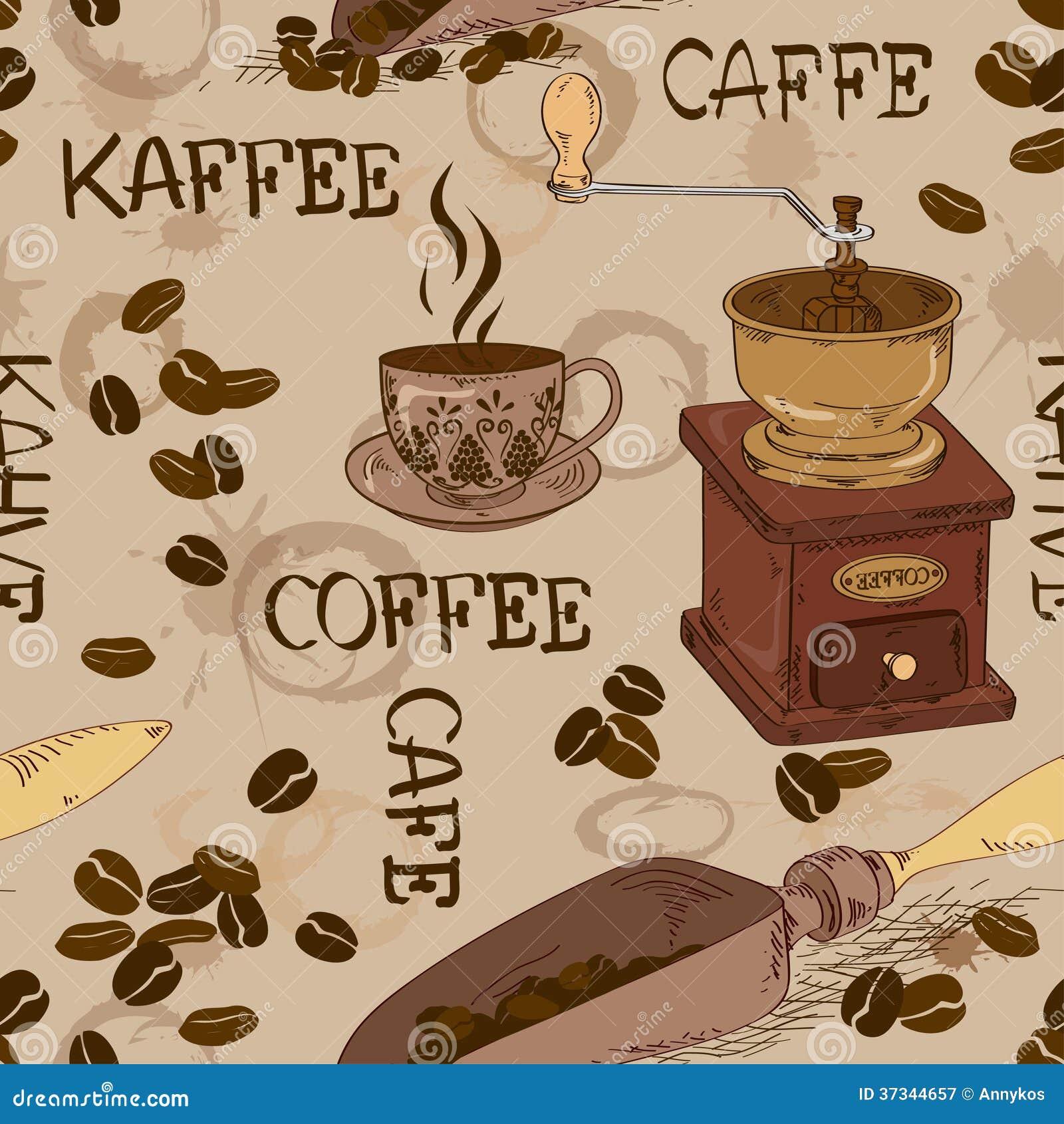 Sömlös modell av kaffe