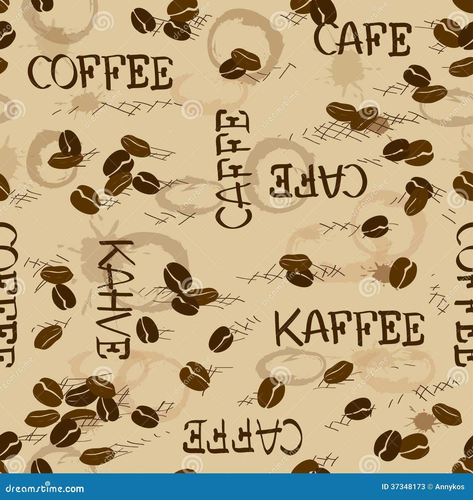 Sömlös modell av kaffebönor