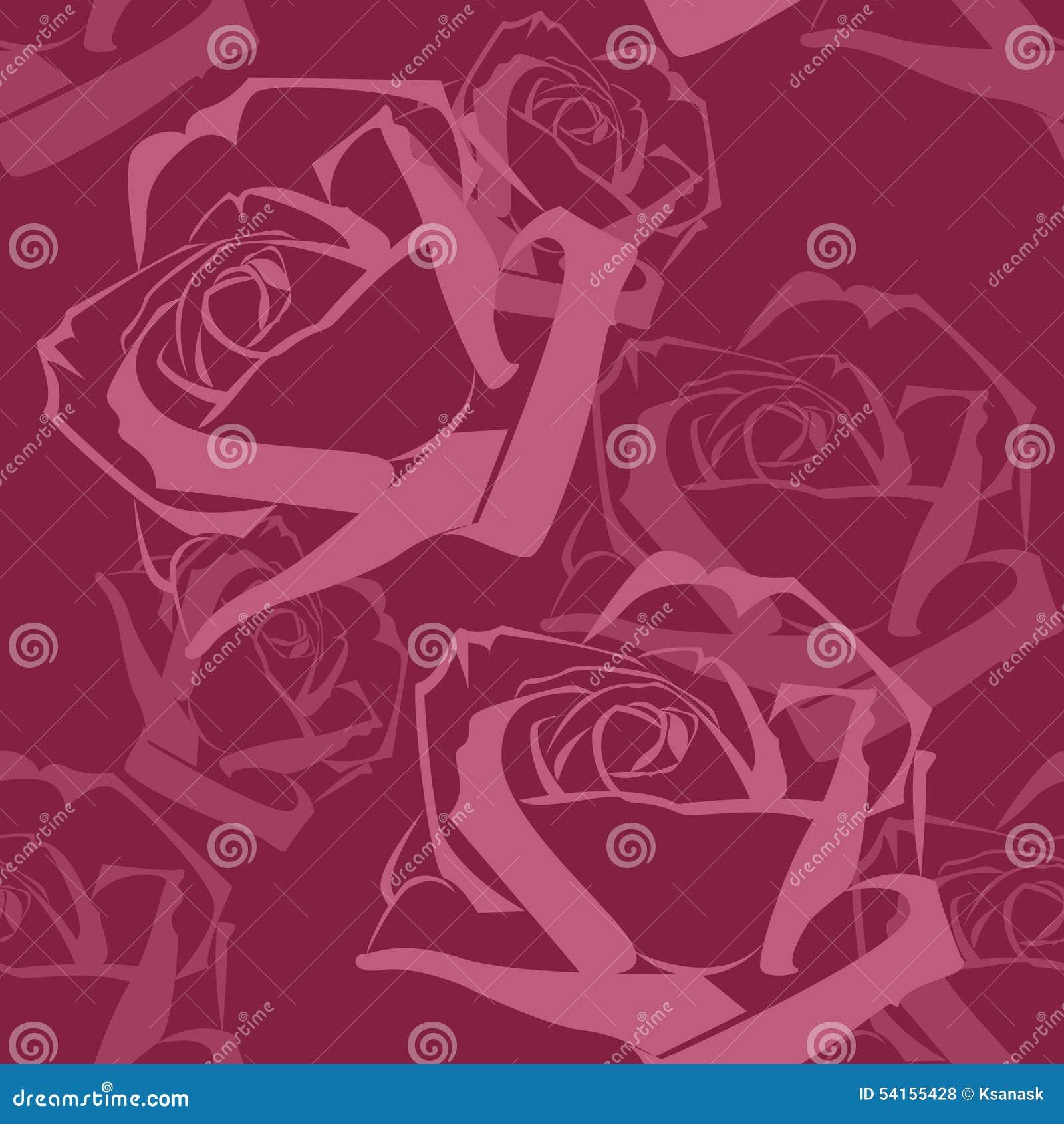 Sömlös modell för abstrakta purpurfärgade rosor