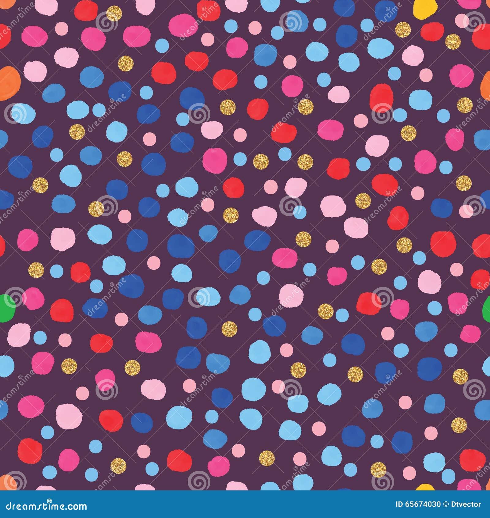 Sömlös modell för blå prick för rosa färgstilvattenfärg