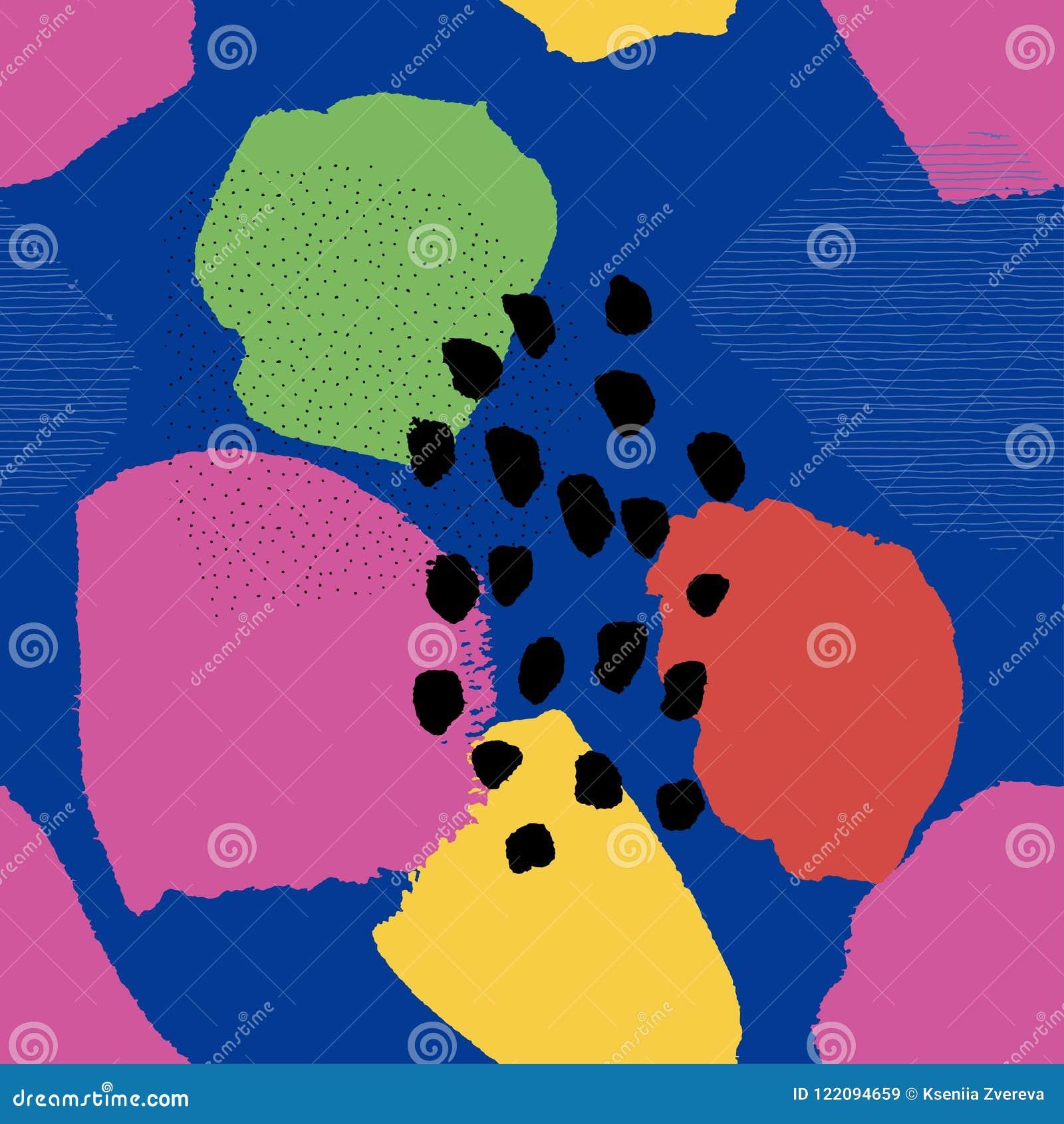 Sömlös modell för collagesamtidaabstrakt begrepp på blått