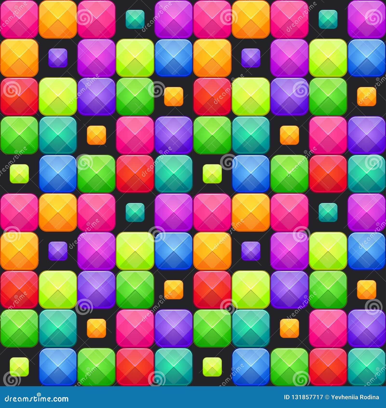 Sömlös modell för färgrik abstrakt mosaik den bästa nedladdningoriginalen skrivar ut klar textur till vektorn
