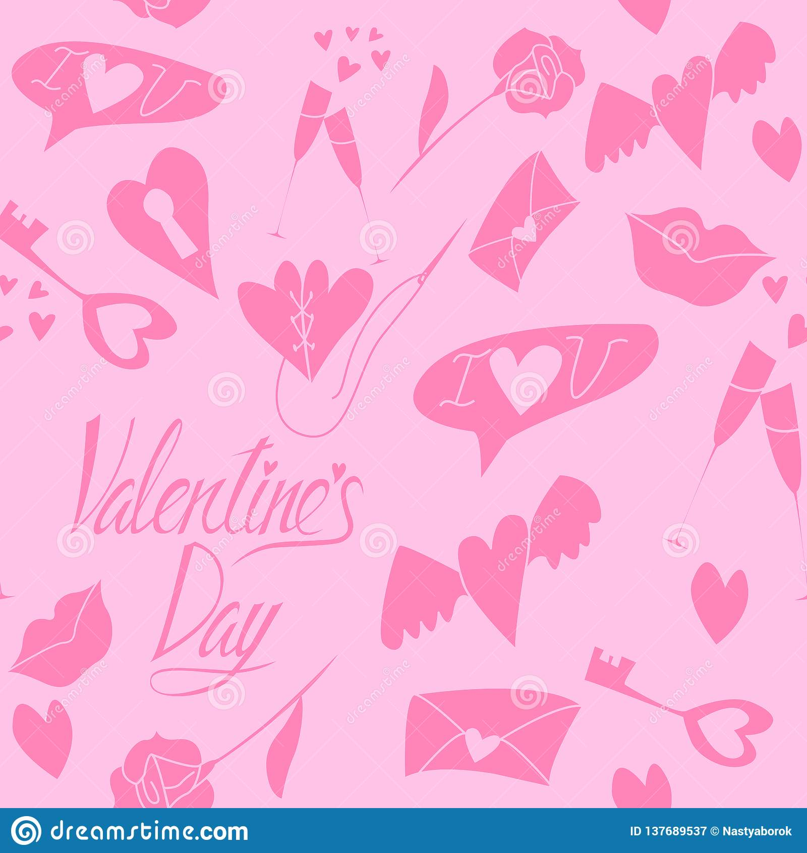 Sömlös modell för förälskelse till valentin dag