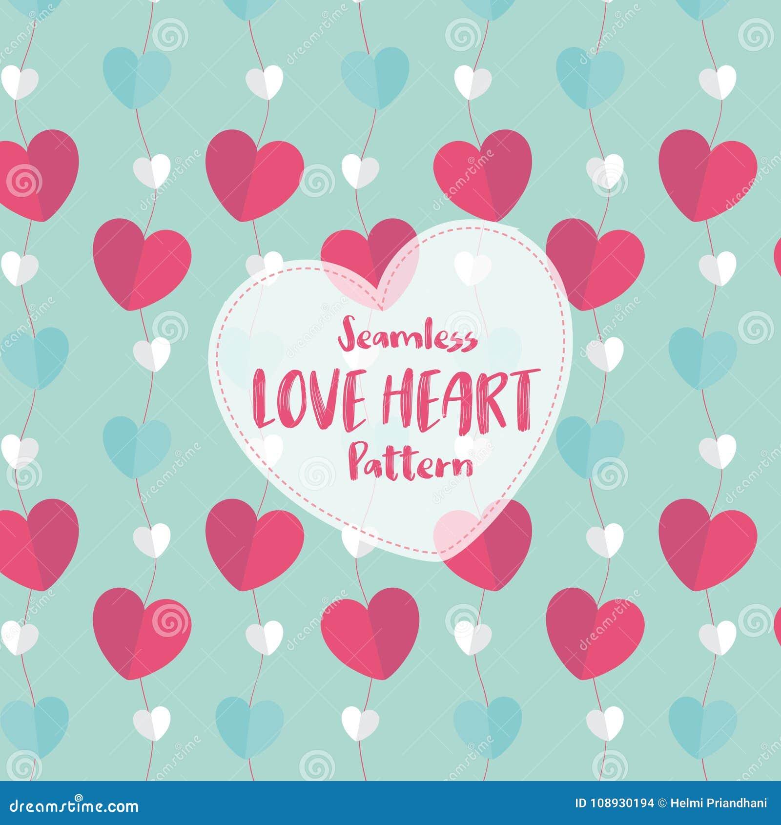 Sömlös modell för förälskelsehjärta på romantisk pastellfärgad färg också vektor för coreldrawillustration