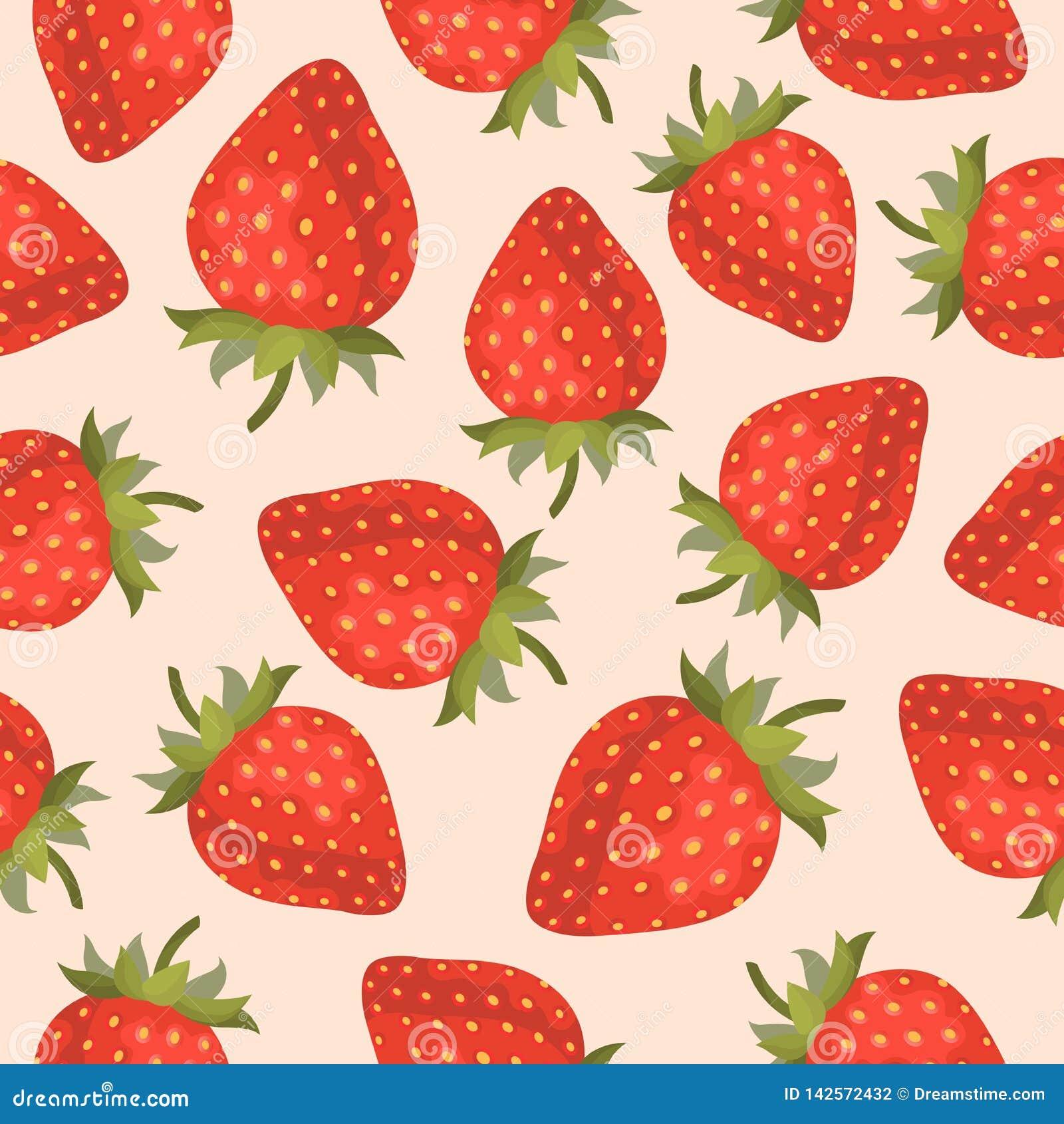 Sömlös modell för jordgubbefrukt