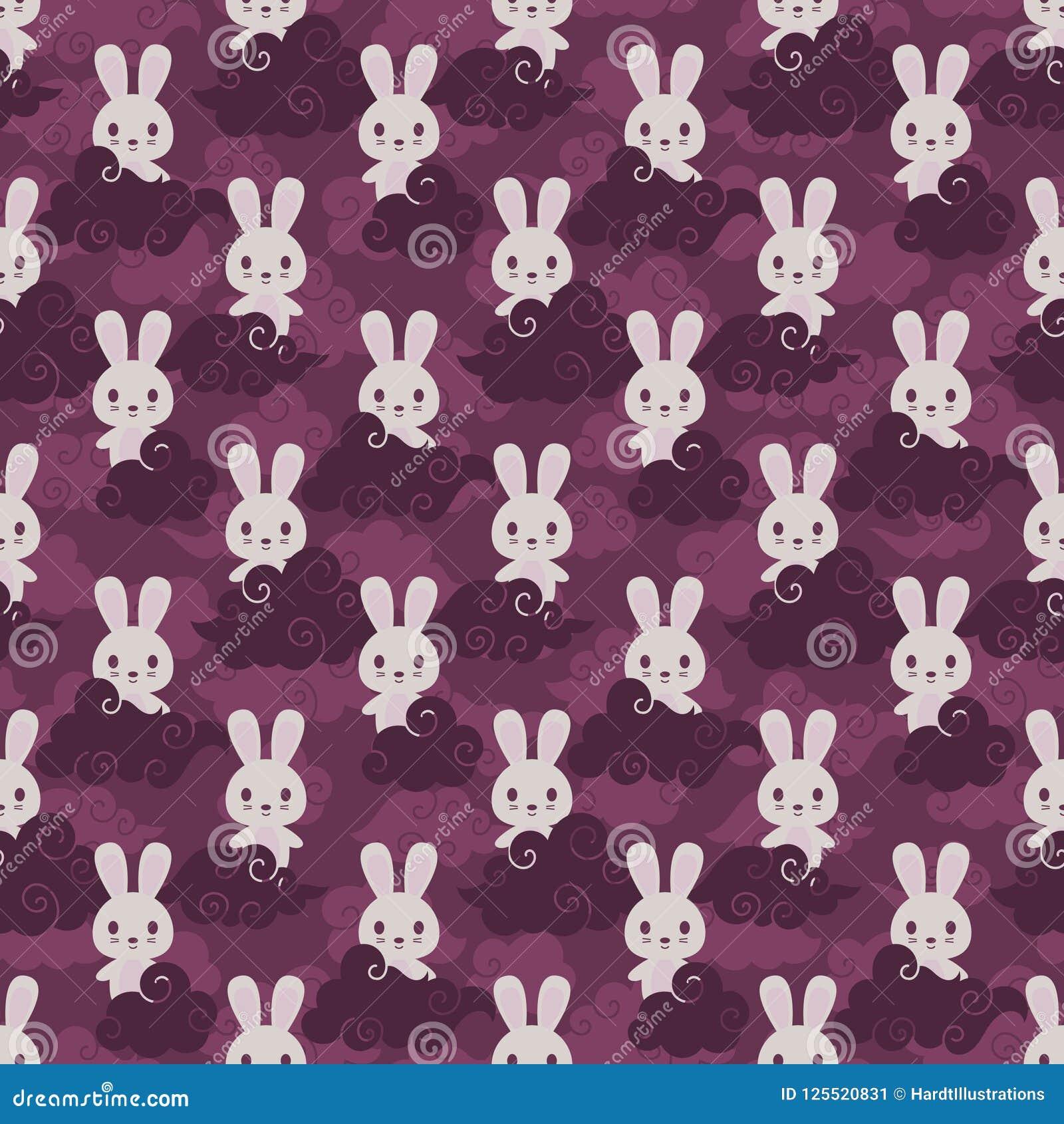 Sömlös modell för kanin- och asiatmoln
