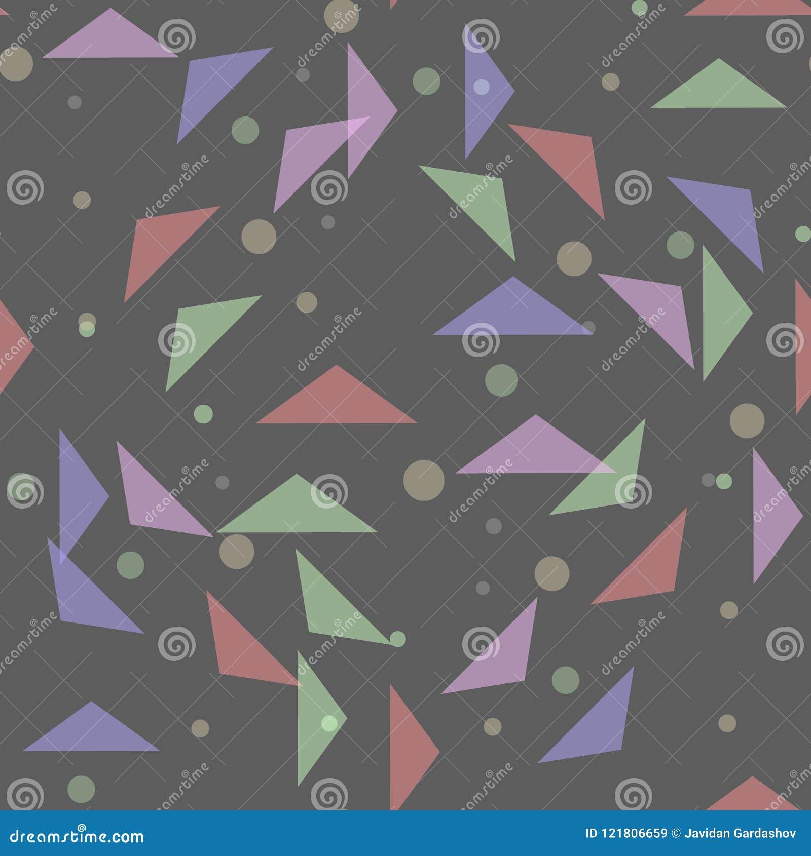 Sömlös modell för pastellfärgade färger med trianglar Geometriskt mosaikkonsttryck abstrakt bakgrund Idérik diagramdes