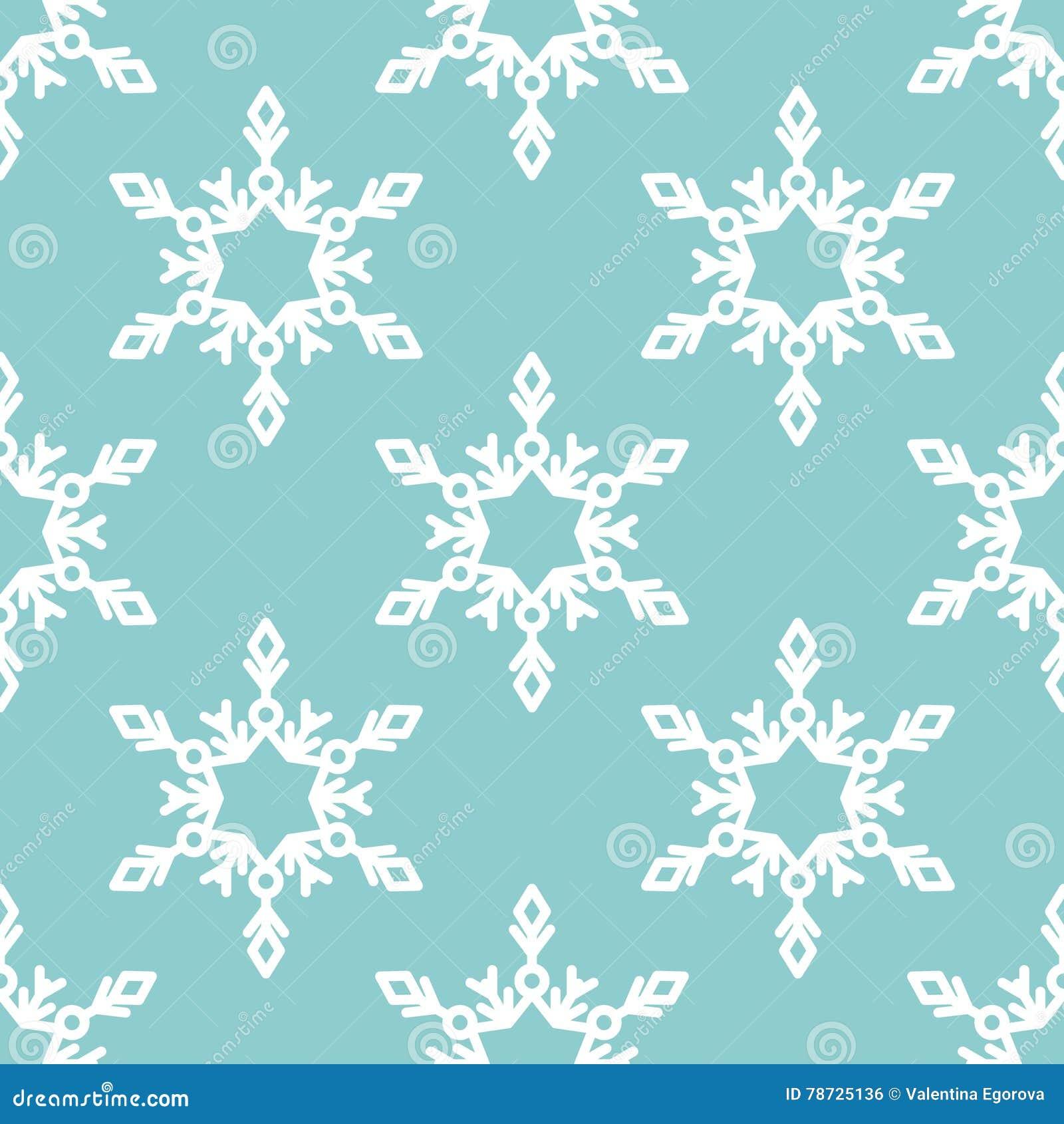 Sömlös modell för vektor med snöflingor vinter för blåa snowflakes för bakgrund vit