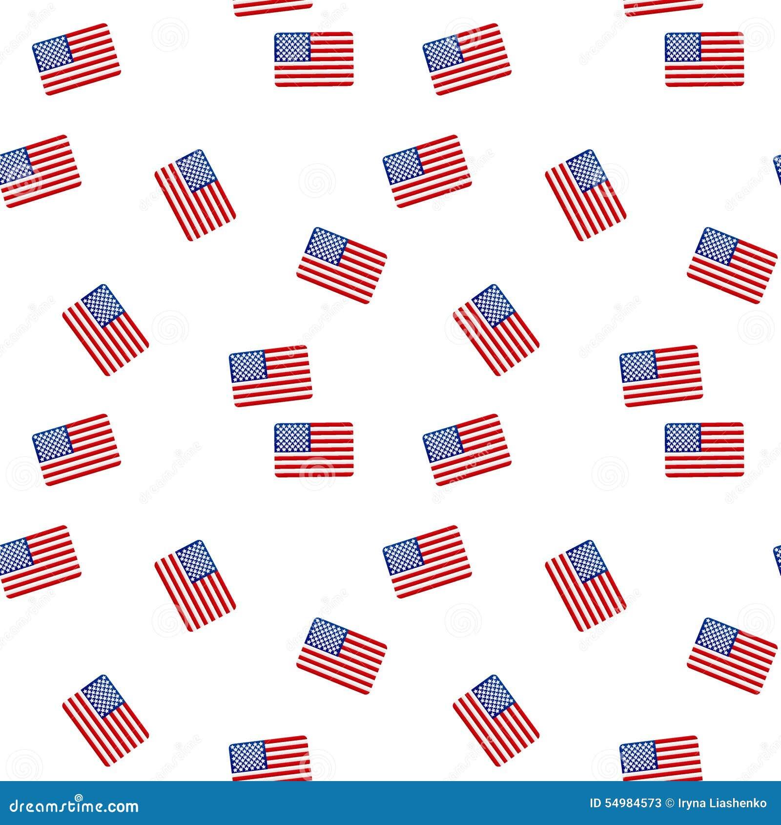 Sömlös modell med amerikanska flaggan