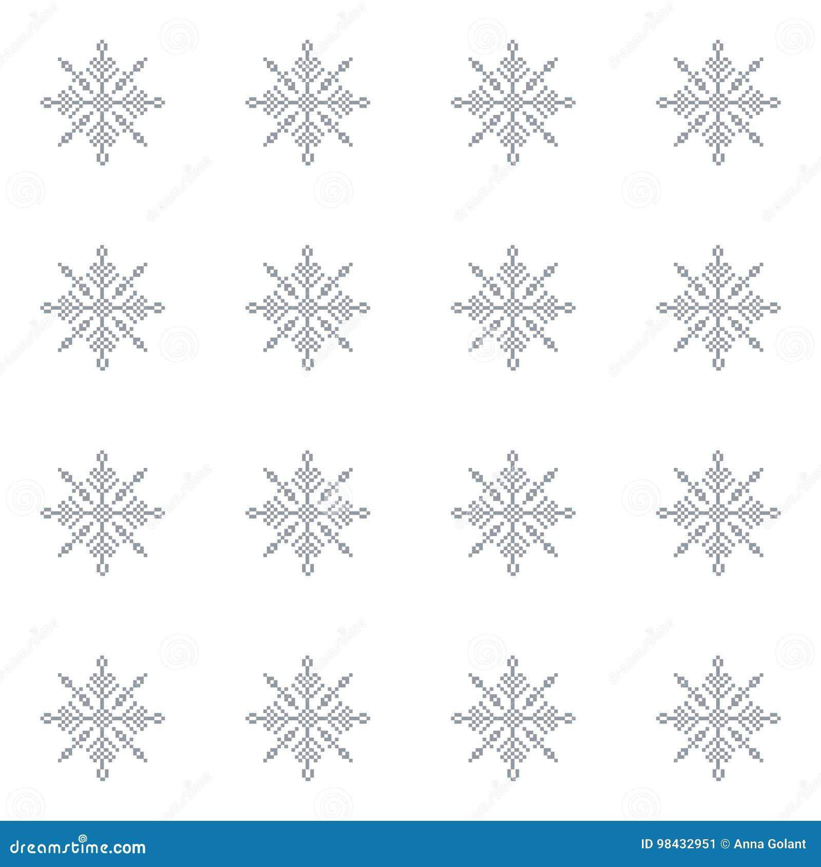 Sömlös modell med ljus julbakgrund för abstrakta snöflingor