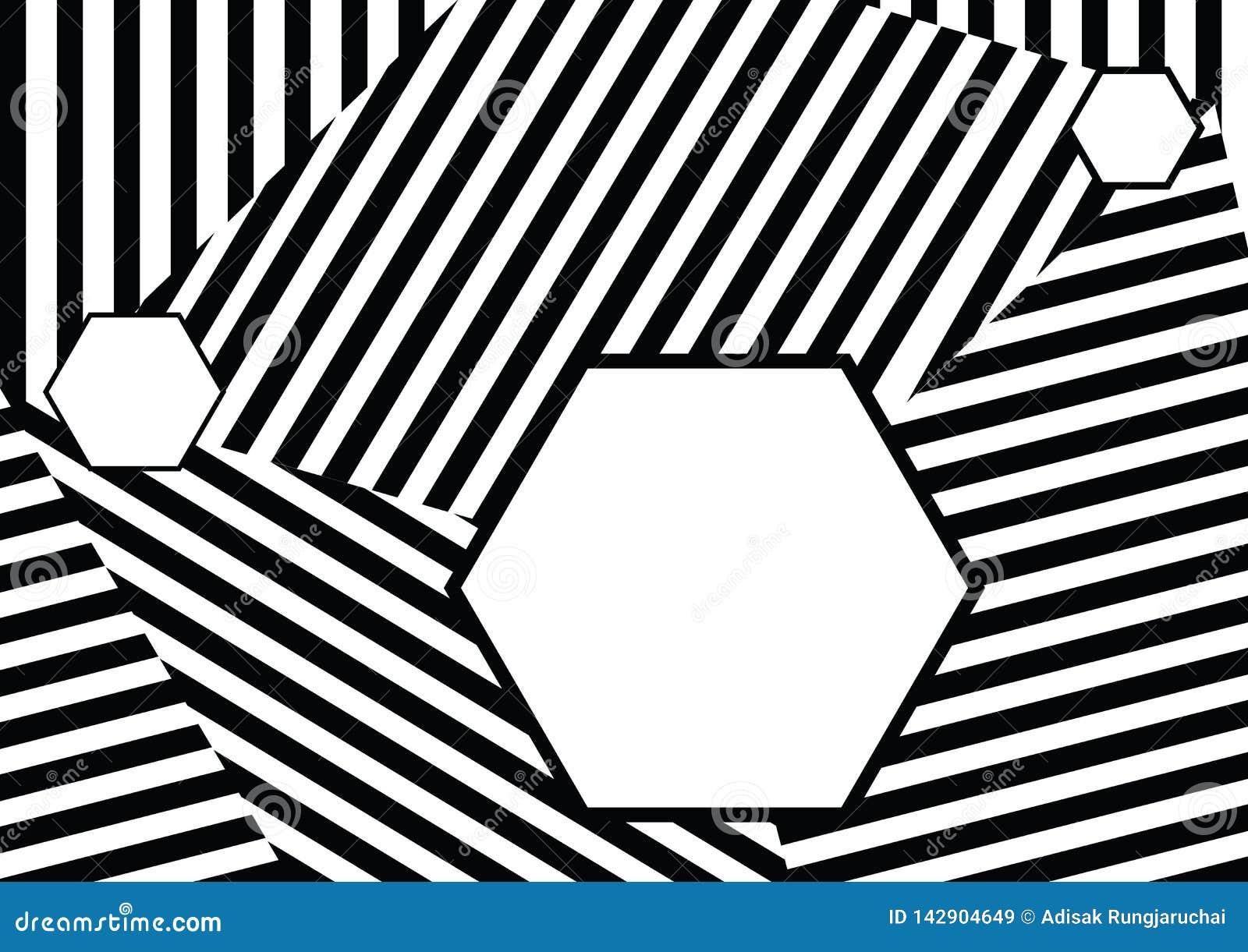 Sömlös modell med svarta vita randiga linjer