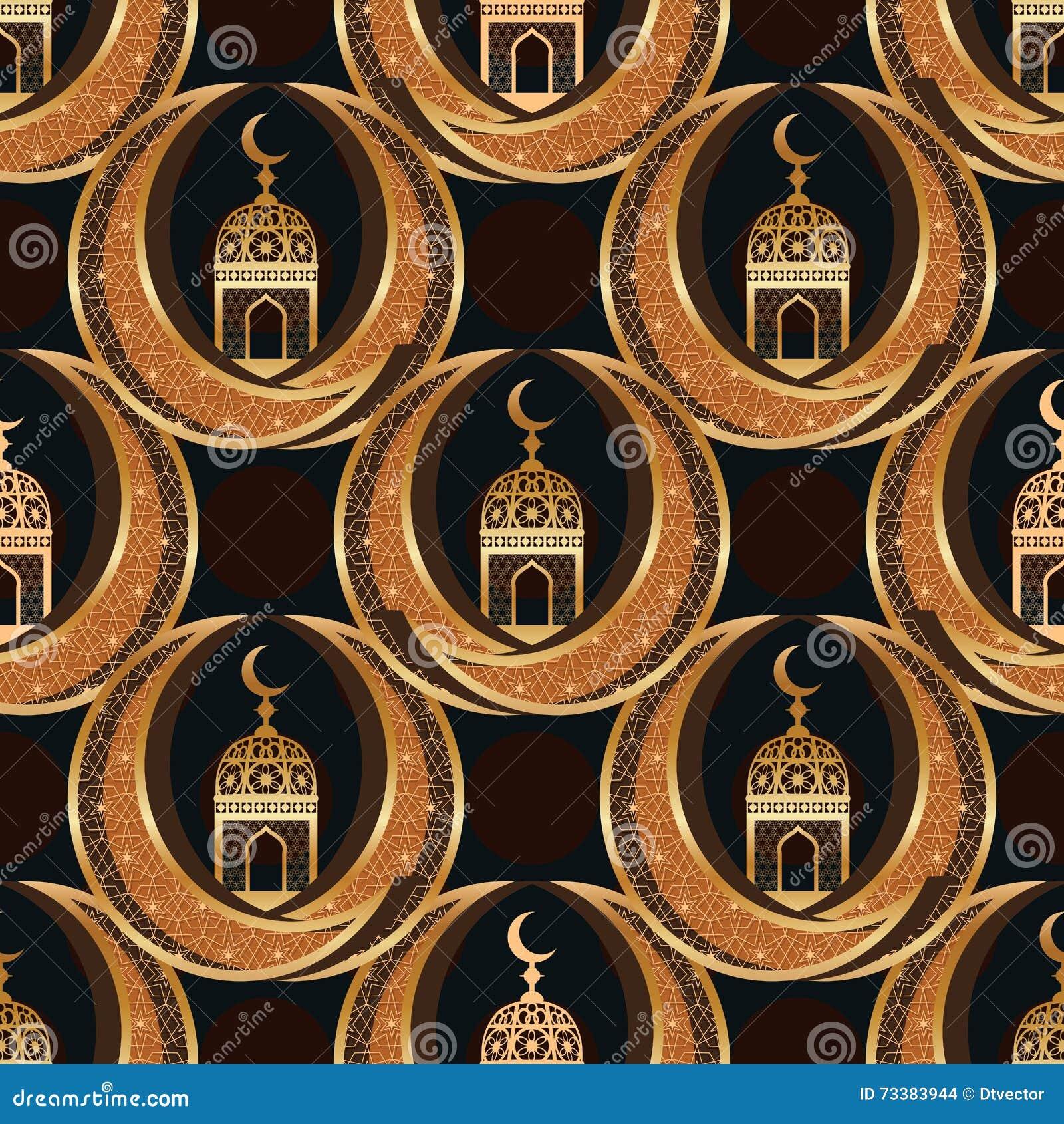 Sömlös modell Ramadan Islam för tvilling- månesymmetri