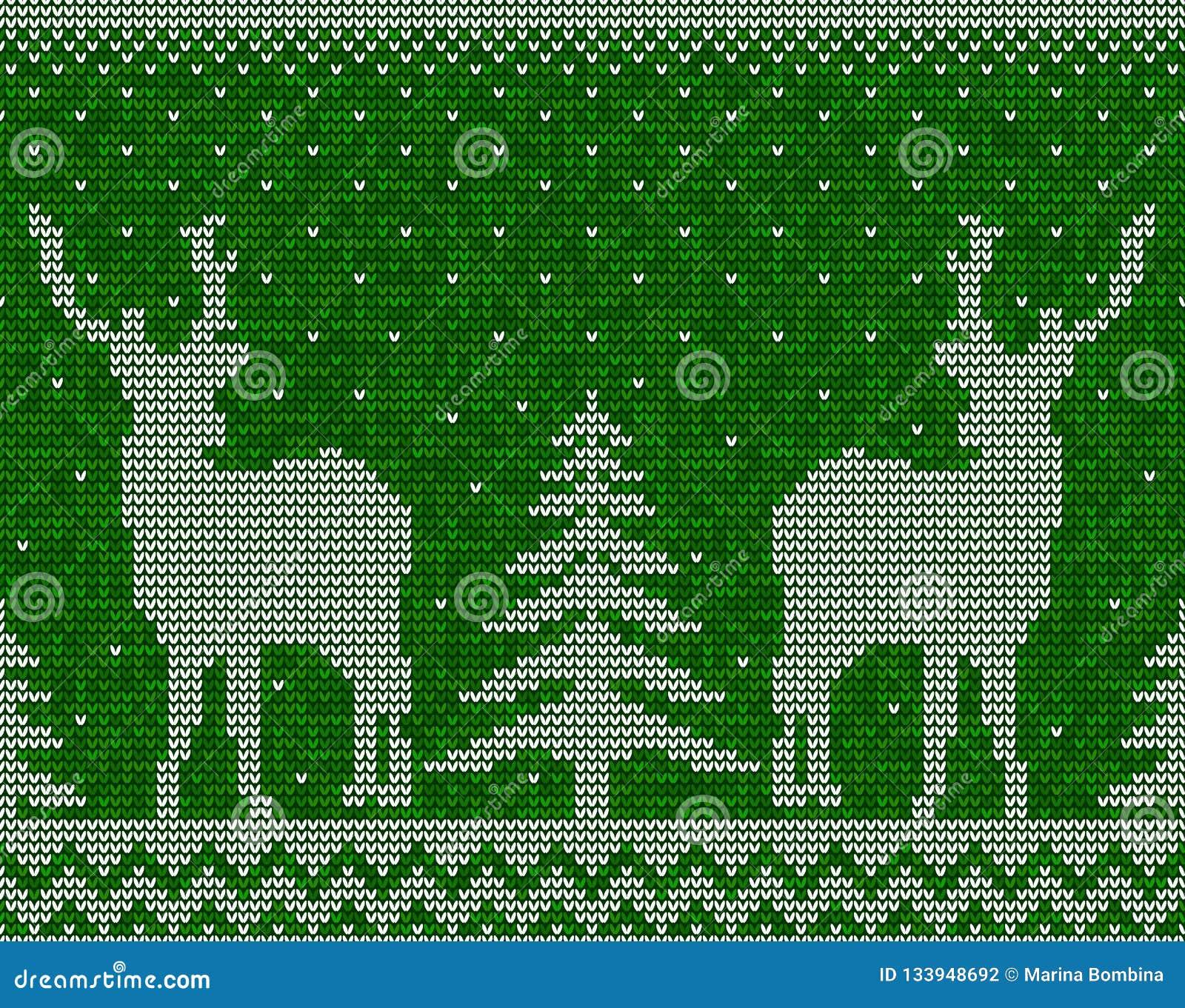 Sömlös modellbakgrund för jul med deers