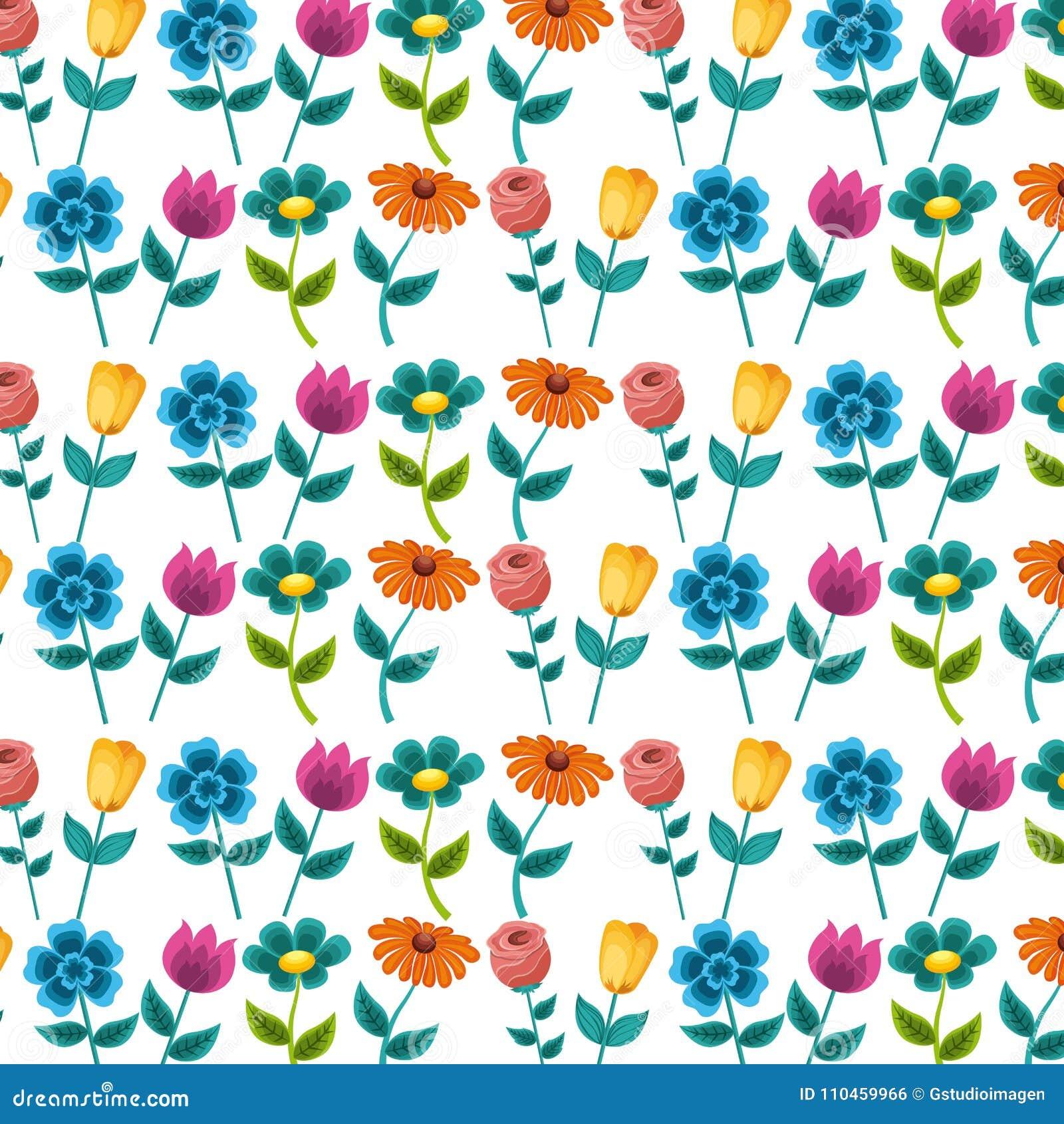 Sömlös modellmålning blommar garneringdesign