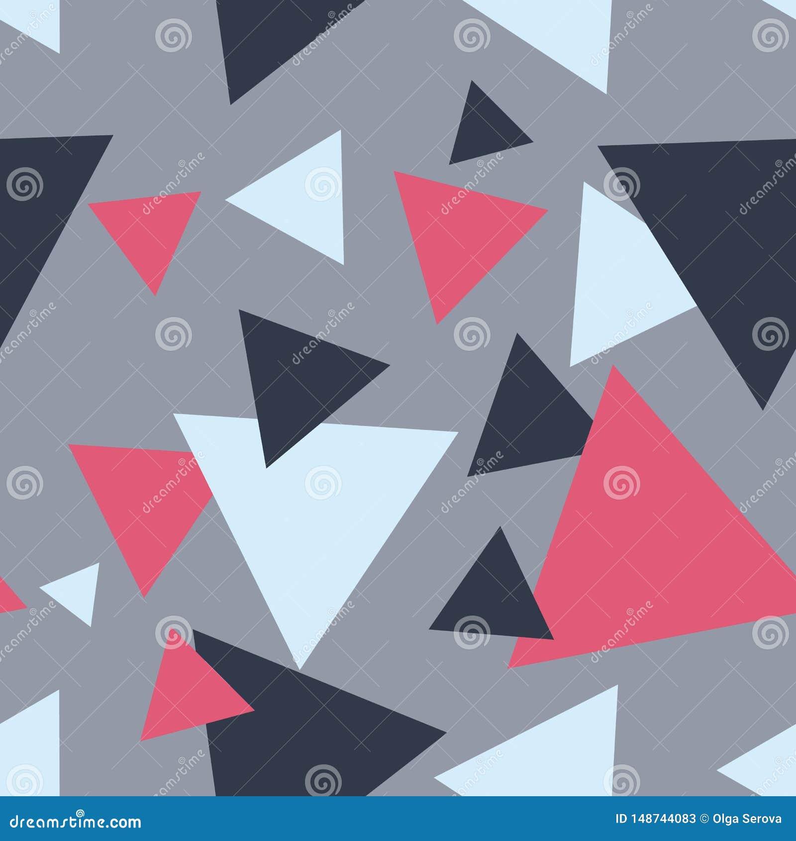 Sömlös modern abstrakt grå triangelmodell