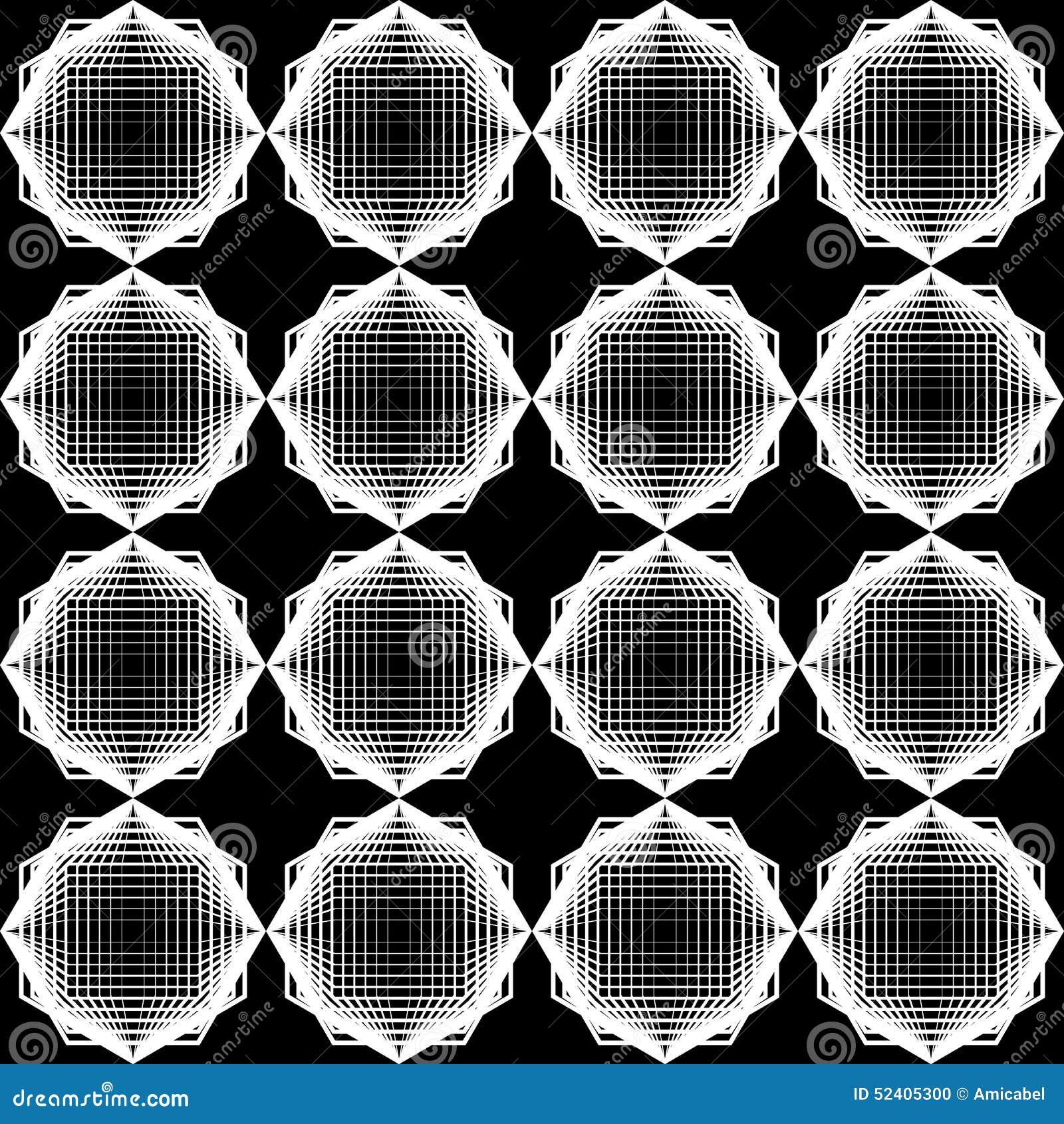 Sömlös monokrom geometrisk modell för design