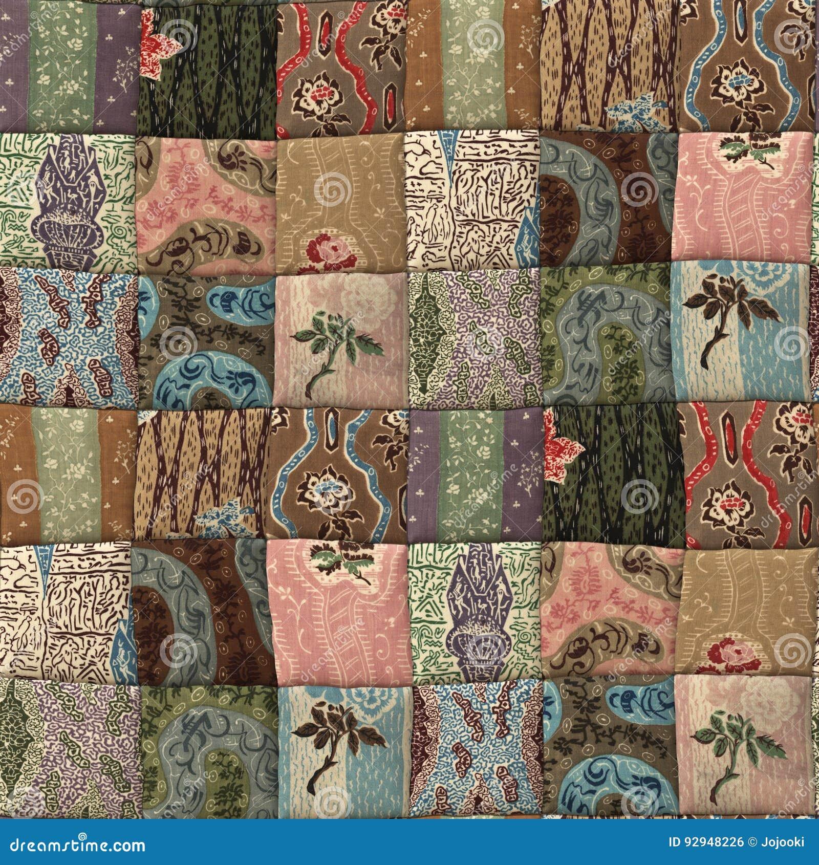 Sömlös textur för patchworktäcke