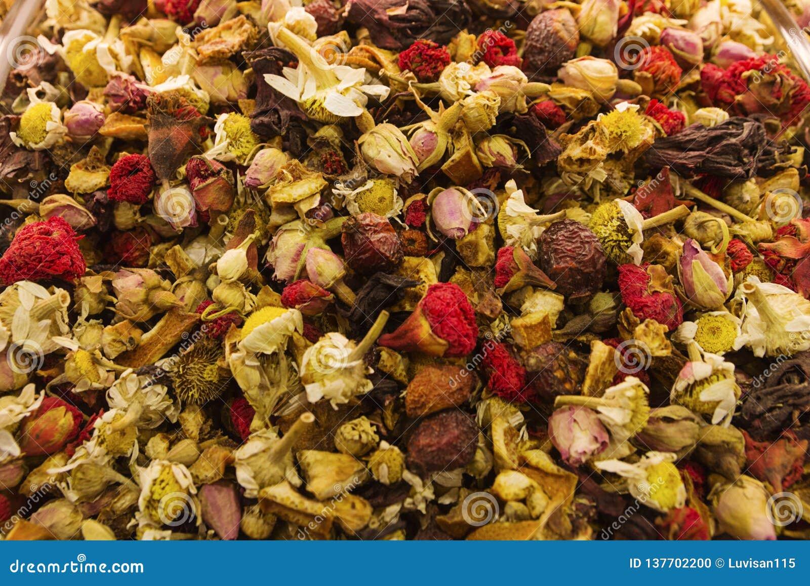 Sömlös texturbakgrund av kryddor, mång--färgad textur