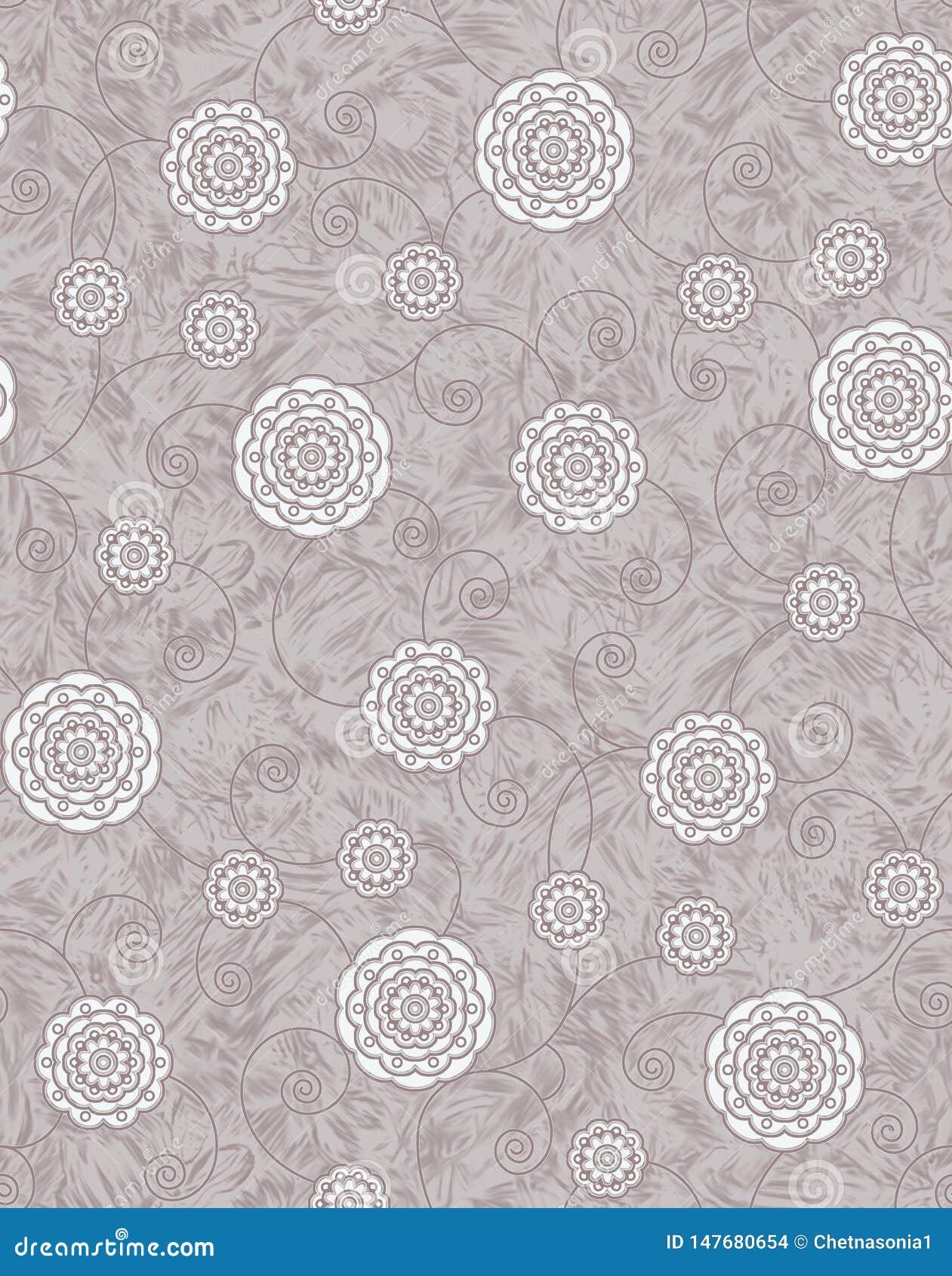 Sömlös texturbakgrund med geometrisk blom- design