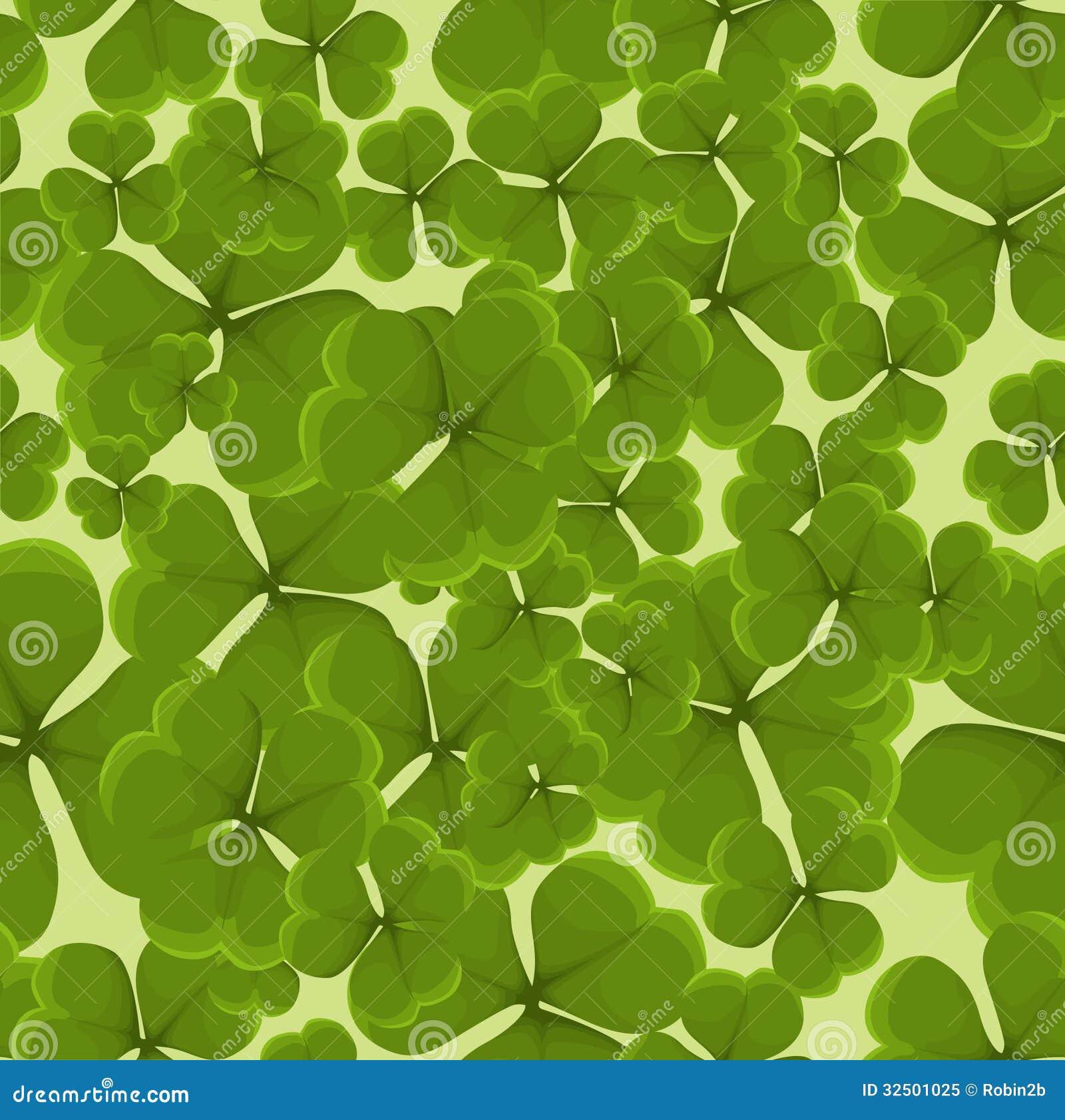 Sömlös växt av släktet Trifoliumbakgrund