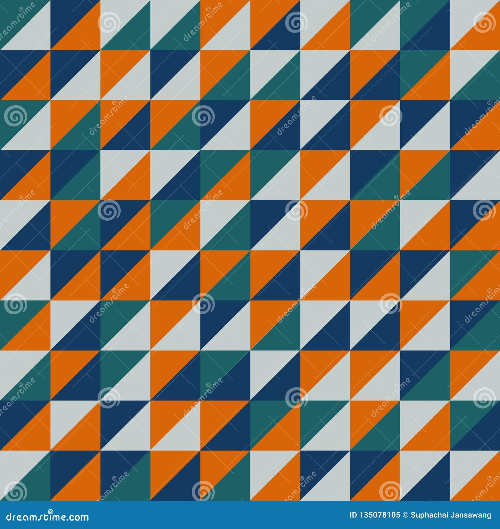 Sömlös vektormodell med orange trianglar