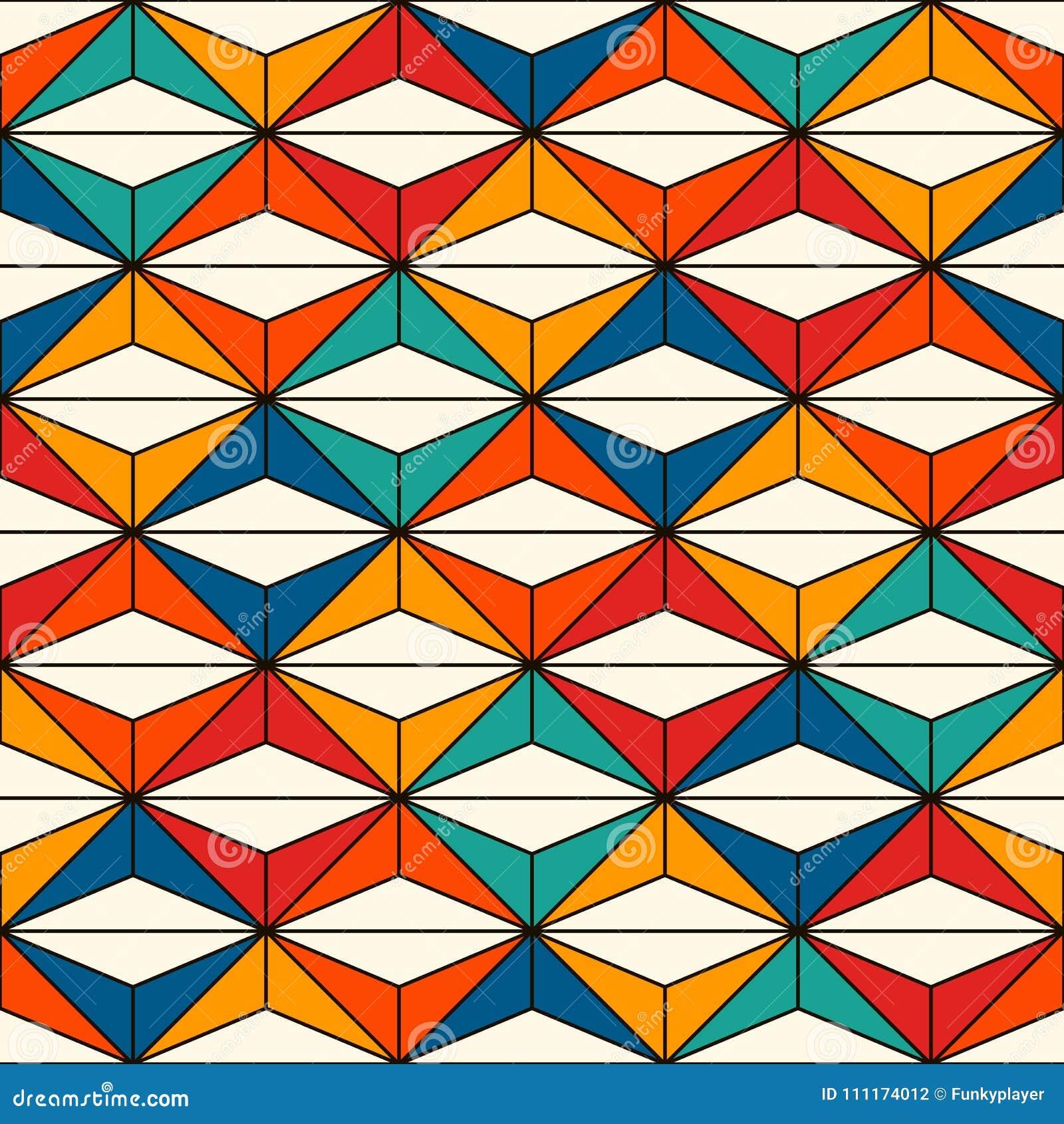 Sömlös yttersidamodell för afrikansk stil med abstrakta diagram Ljust etniskt tryck geometriskt dekorativt för bakgrund
